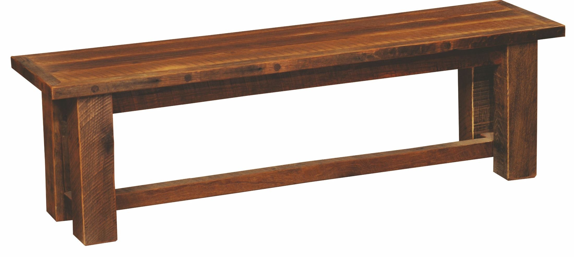 Barnwood 48 Antique Oak Top Bench From Fireside Lodge