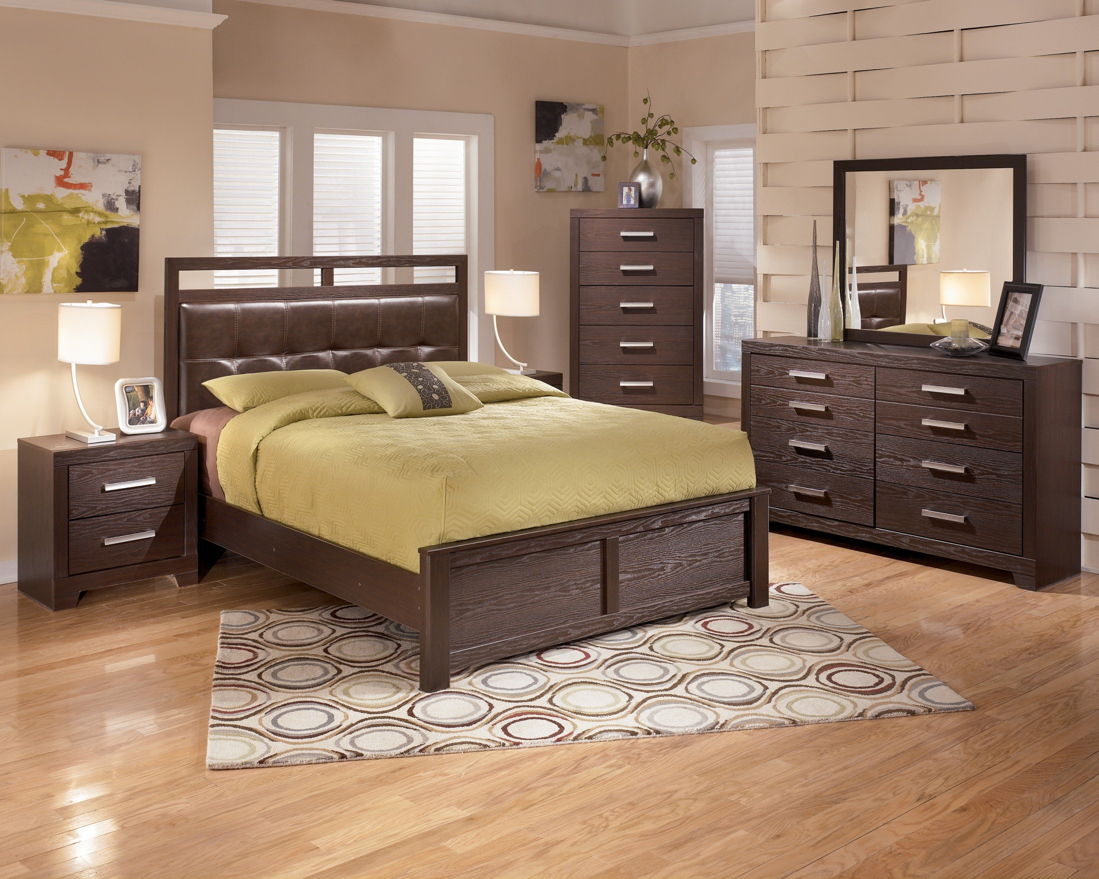 Aleydis upholstered panel bedroom set from ashley b165 57 54 96 coleman furniture for Starmore ashley furniture bedroom