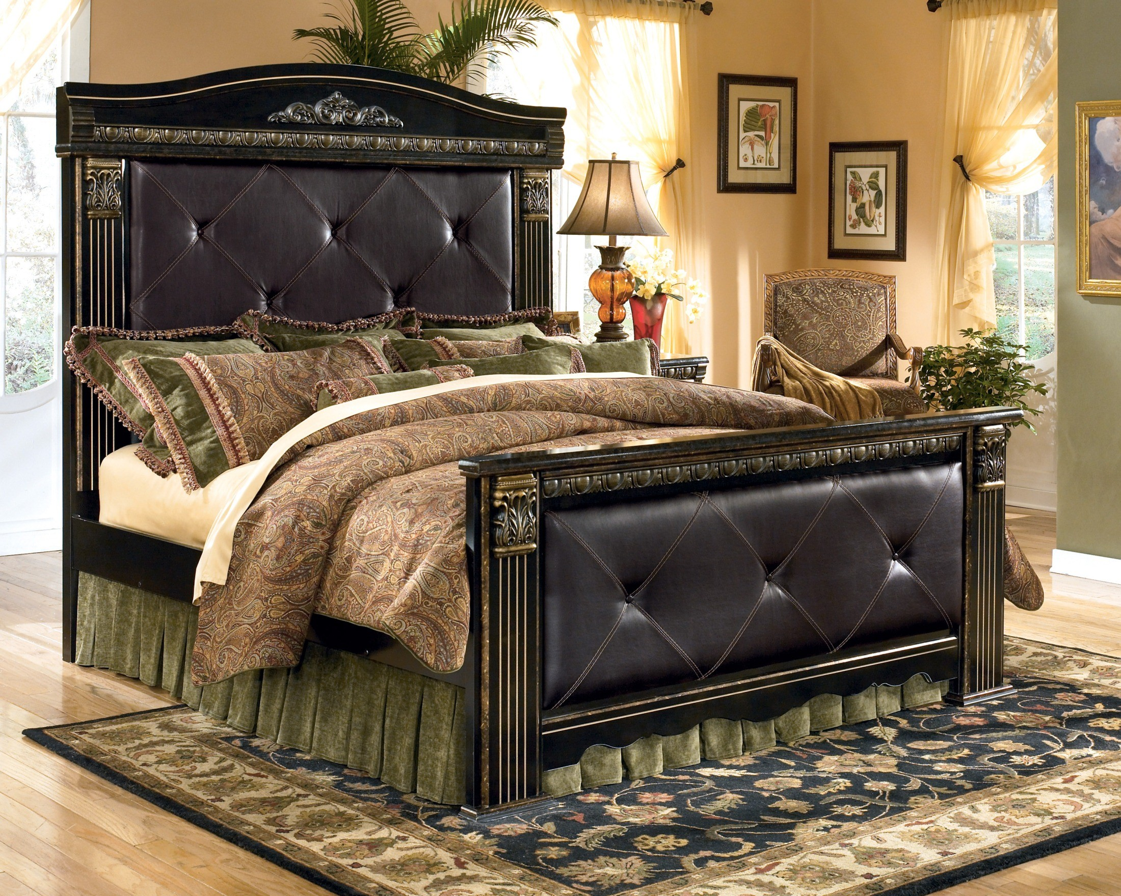 Mansion Bedroom Furniture Coal Creek Queen Mansion Bed From Ashley B175 57 54 98 61