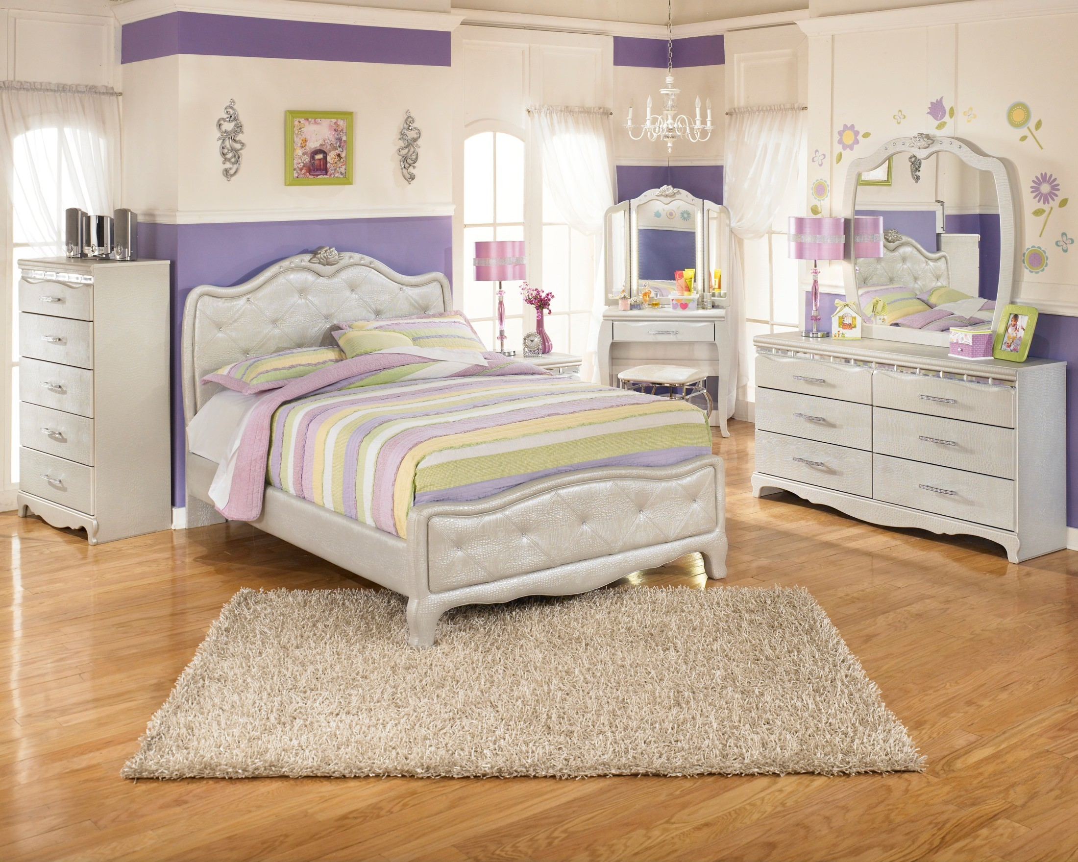 Zarollina youth upholstered bedroom set from ashley b