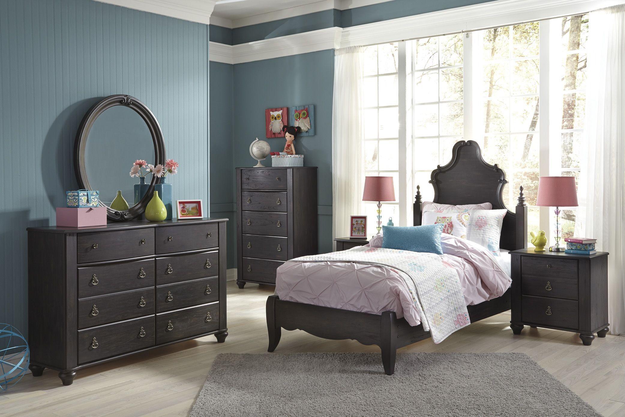 corilyn dark brown youth poster bedroom set b207 52 53 ashley. Black Bedroom Furniture Sets. Home Design Ideas