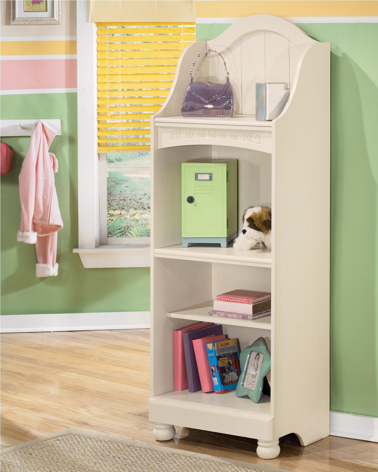Cottage retreat bookcase from ashley b213 20 coleman furniture Cottage retreat collection bedroom furniture