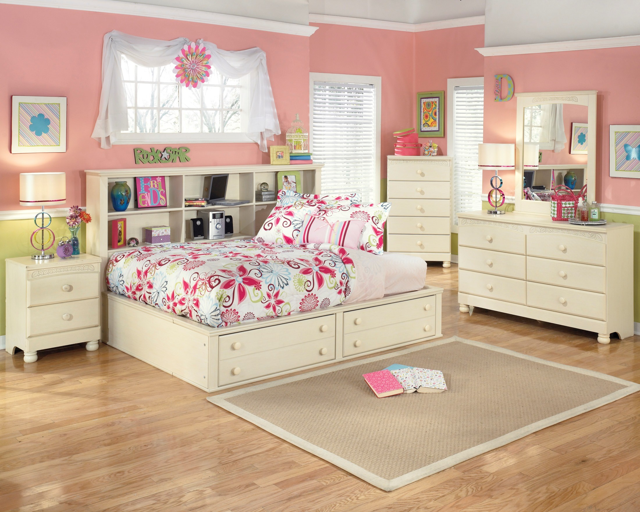 Cottage Retreat Youth Bedside Storage Bedroom Set from