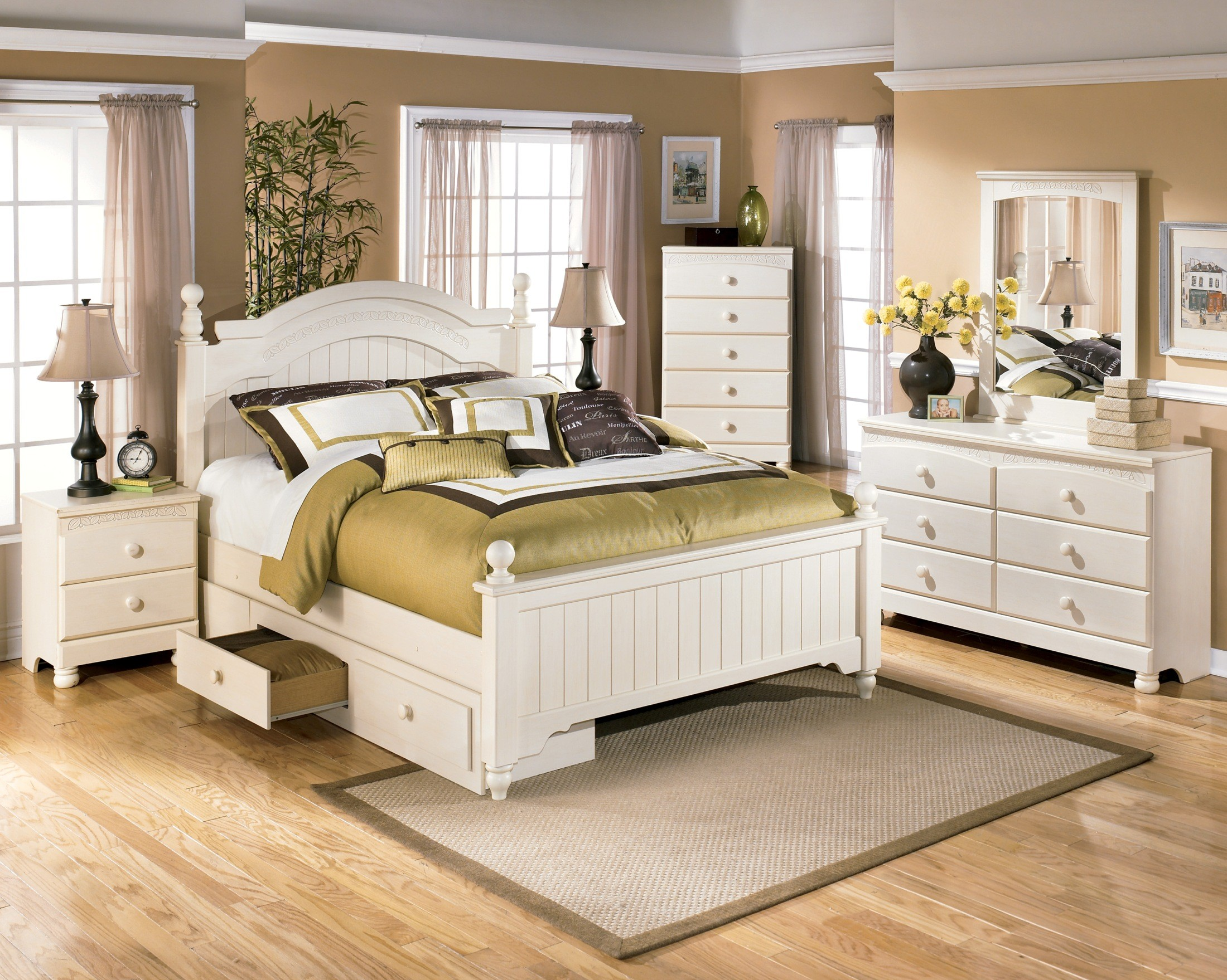 Cottage retreat youth poster storage bedroom set from ashley coleman furniture for Youth storage bedroom furniture