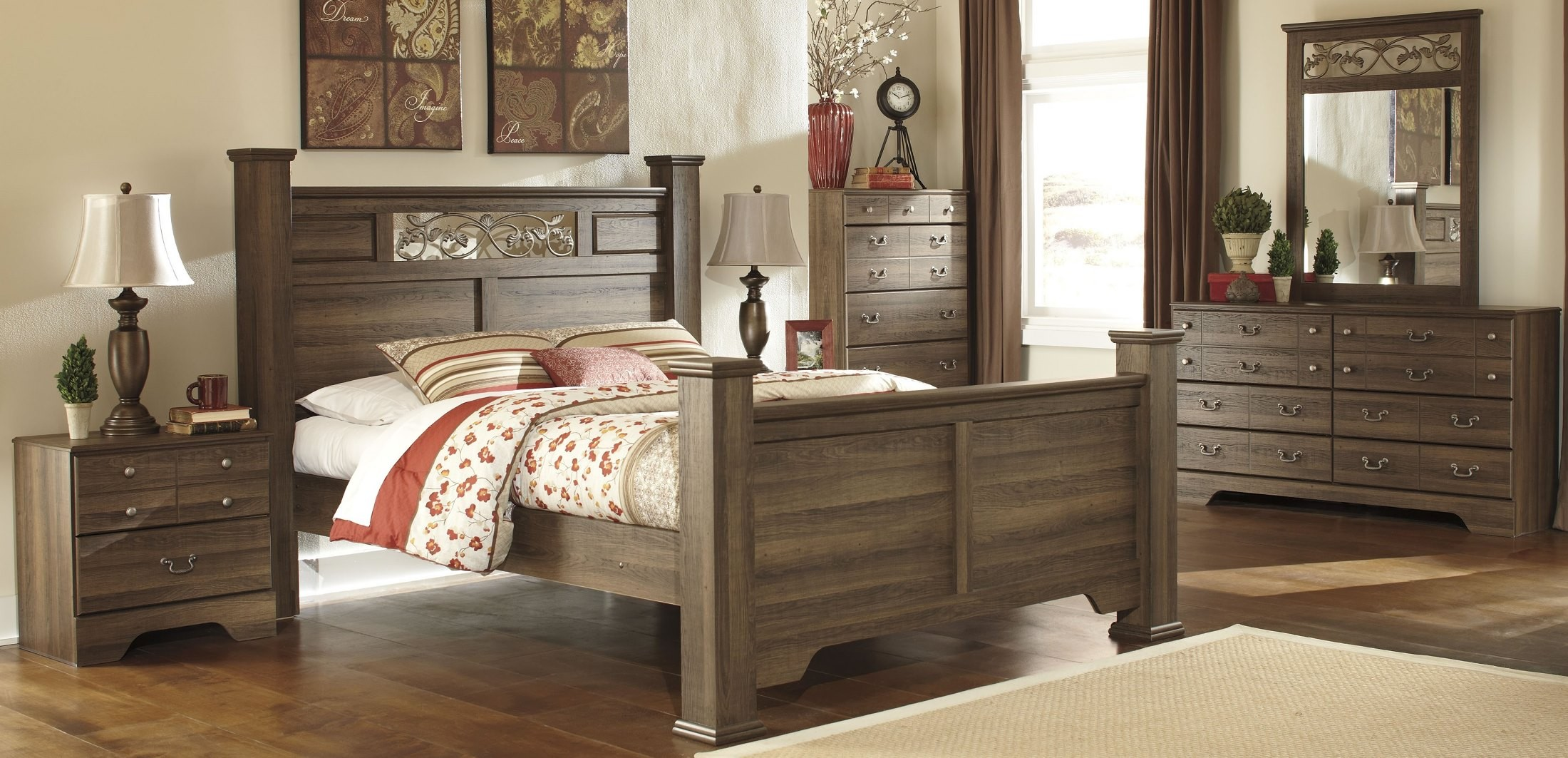 Allymore poster bedroom set from ashley b216 77 71 74 96 coleman furniture for Bedroom furniture washington dc
