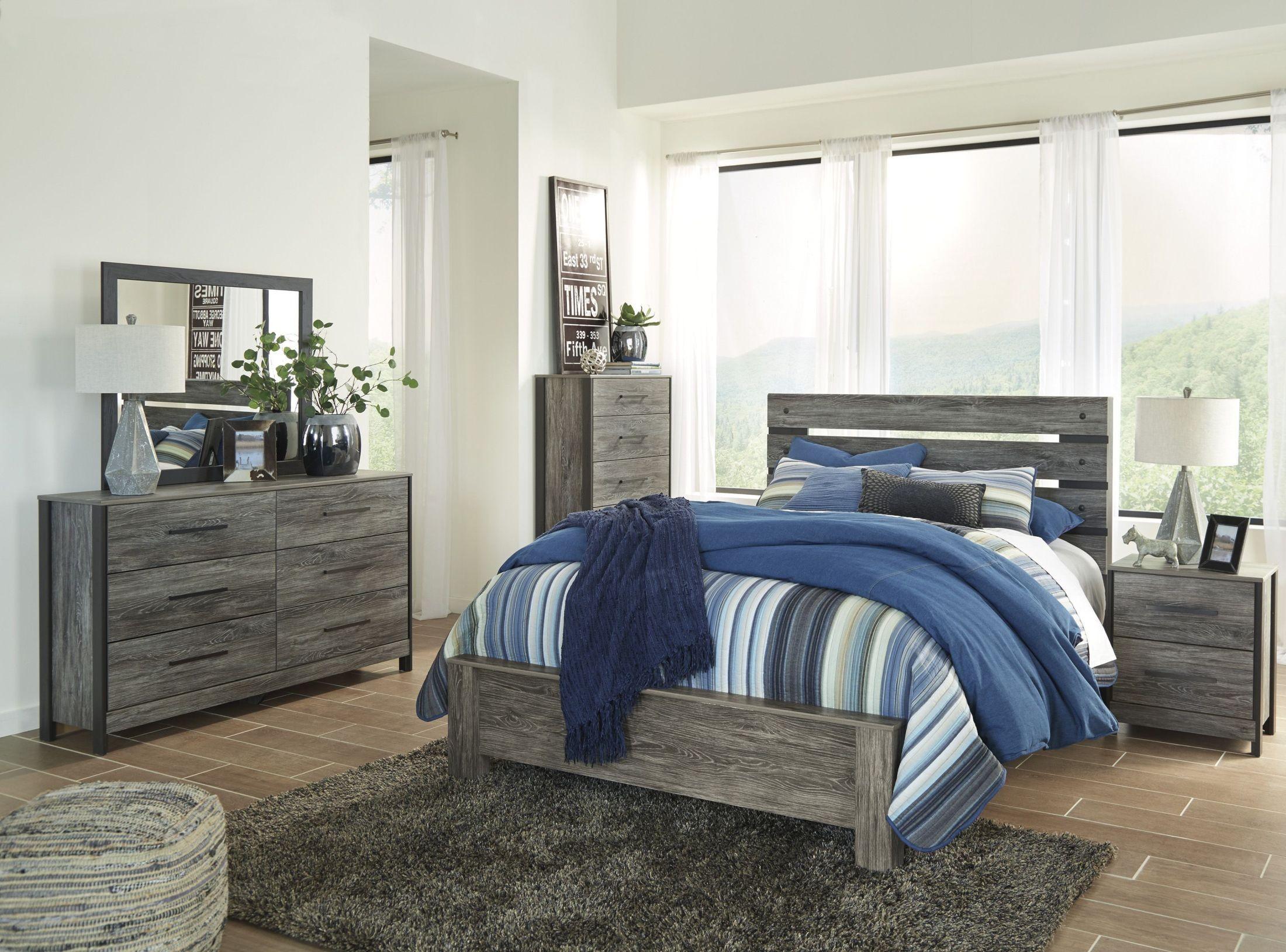 Cazenfeld black and gray panel bedroom set b227 54 57 96 - Black and grey bedroom furniture ...