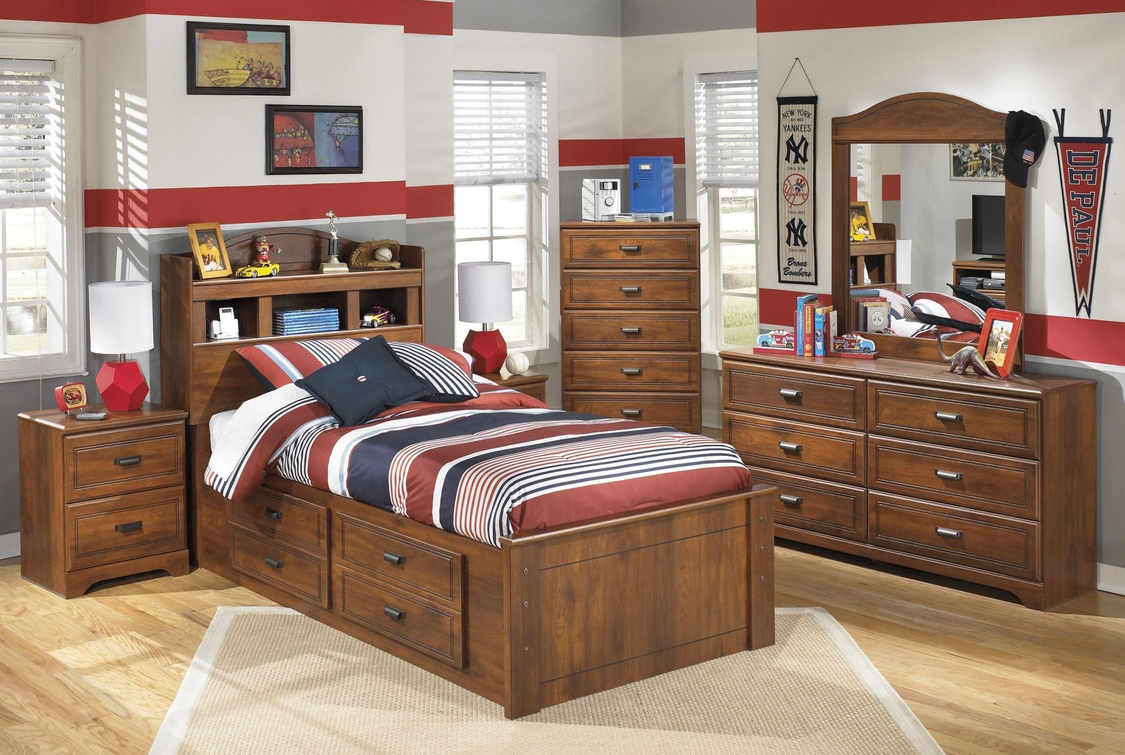 Barchan Youth Bookcase Storage Bedroom Set From Ashley Coleman Furniture