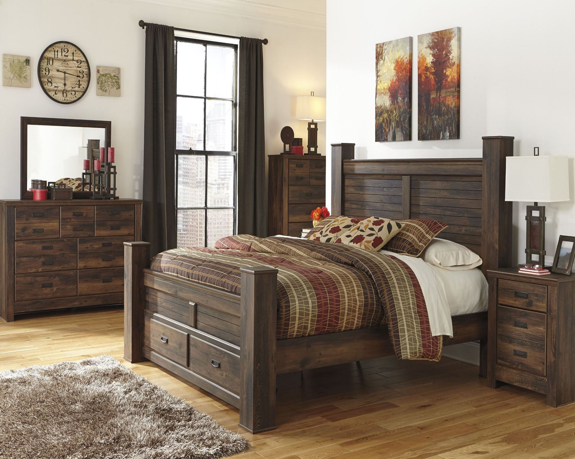 quinden poster storage bedroom set from ashley b246 61 64s 98 coleman furniture. Black Bedroom Furniture Sets. Home Design Ideas