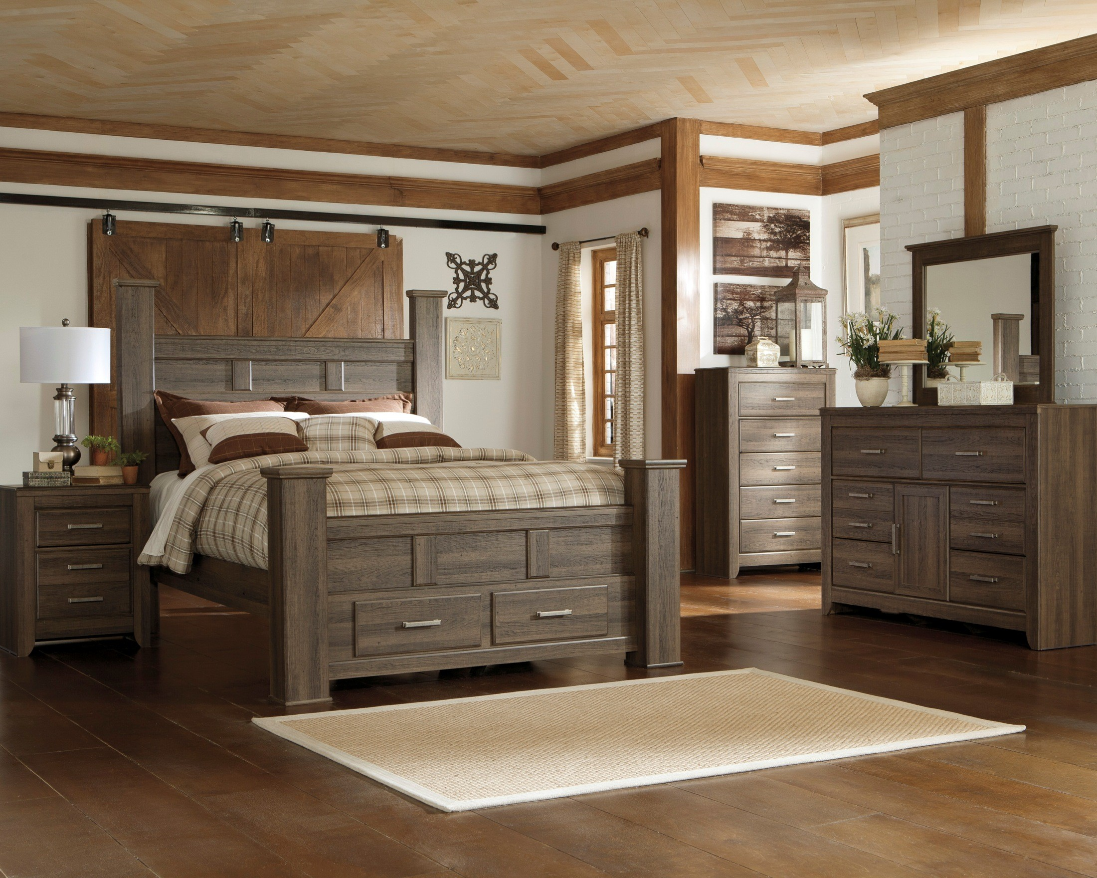 Juararo King Poster Storage Bed from Ashley (B251-68-66S-70-99 ...