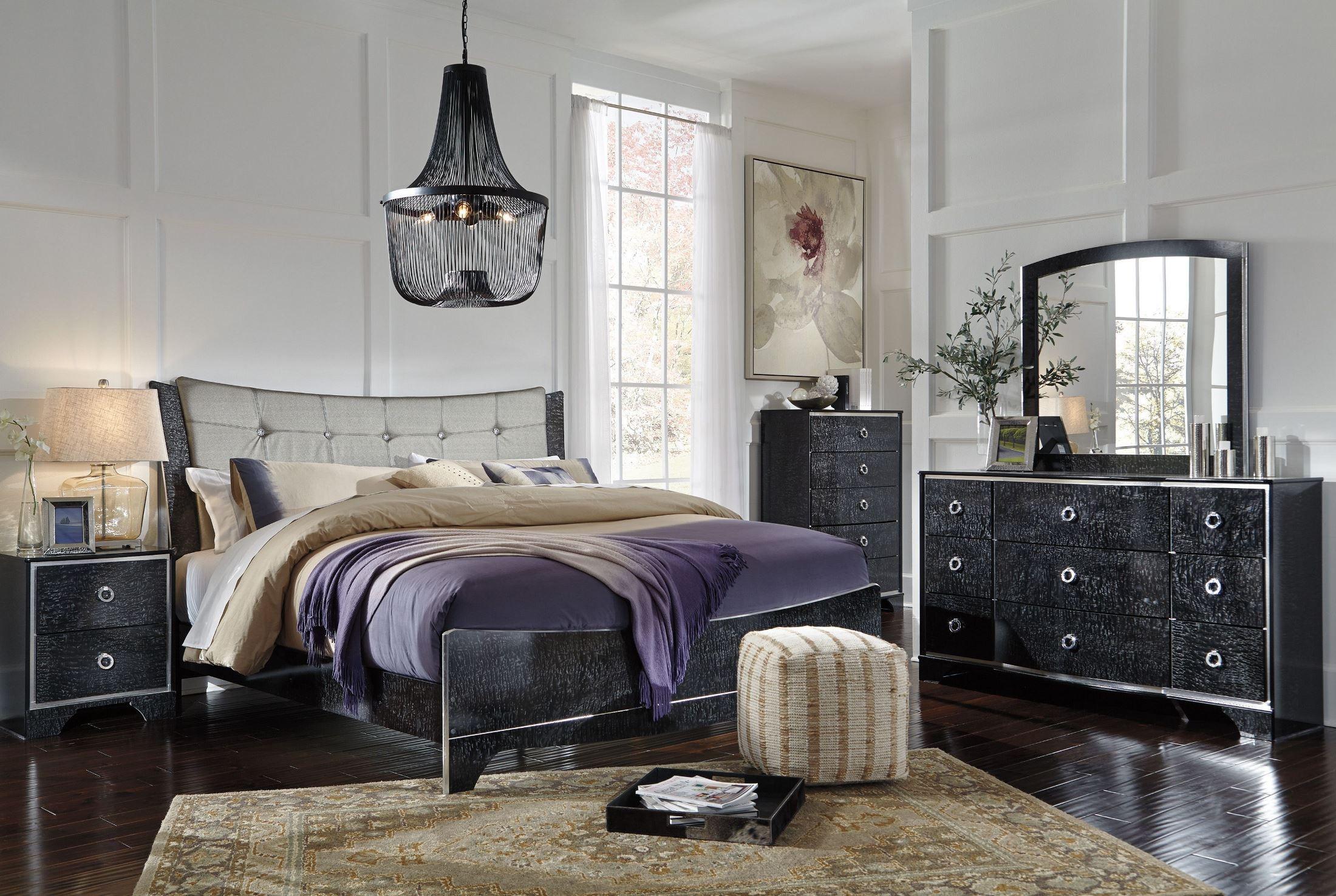 Amrothi Black Panel Bedroom Set, B257-57-54-96, Ashley