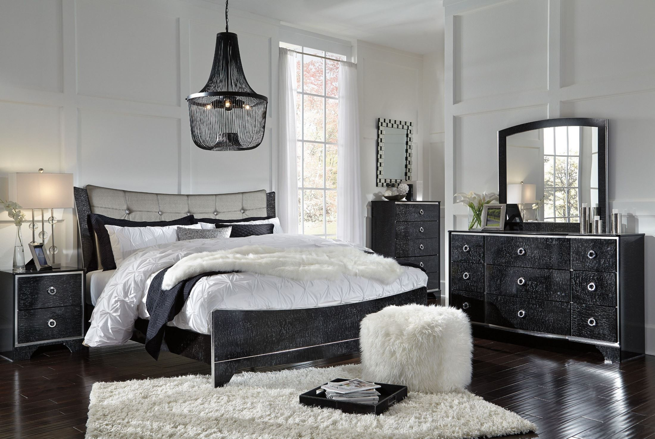 Amrothi Black Panel Bedroom Set B257 57 54 96 Ashley