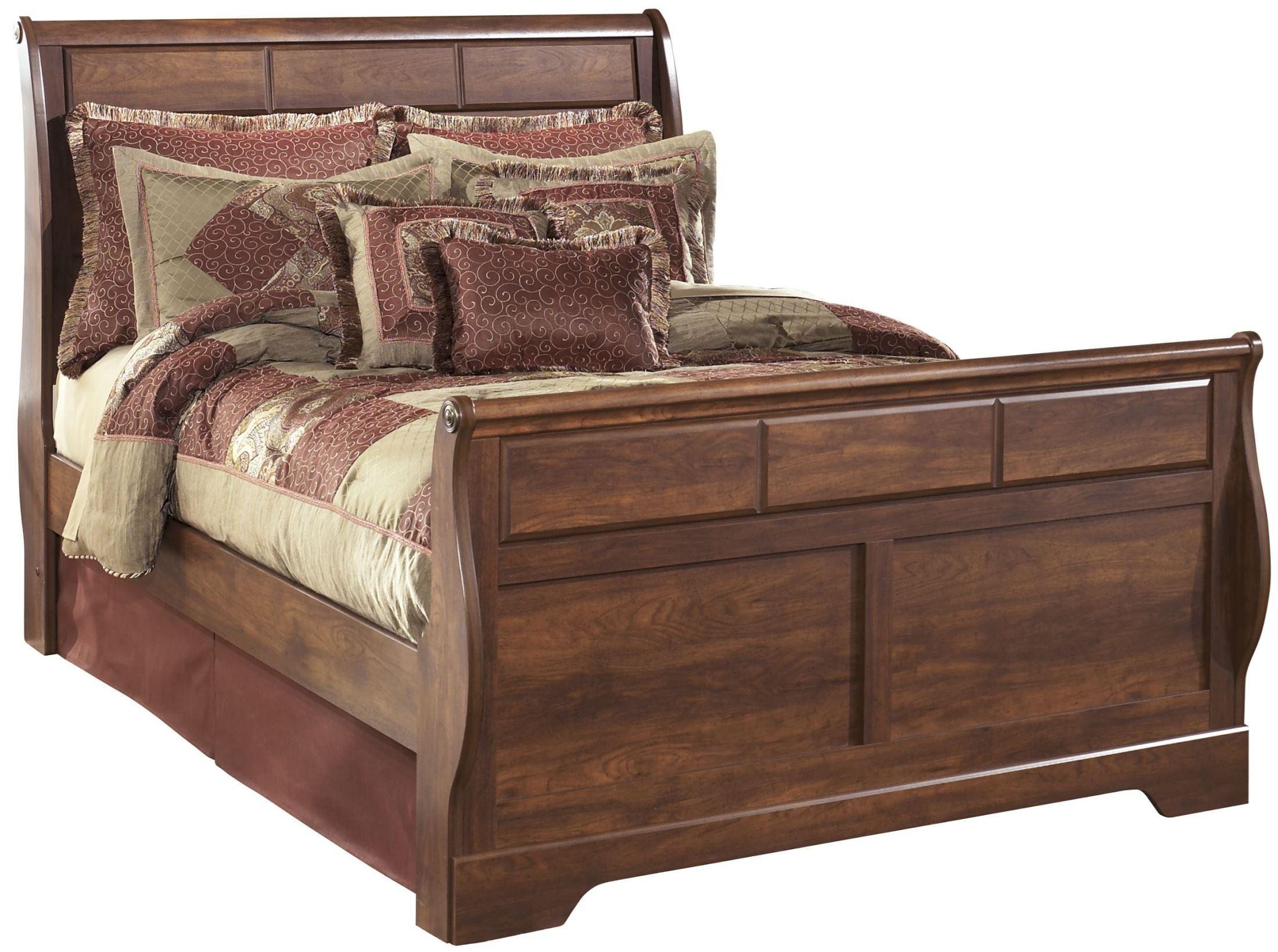 timberline sleigh bedroom set from ashley b258 sl