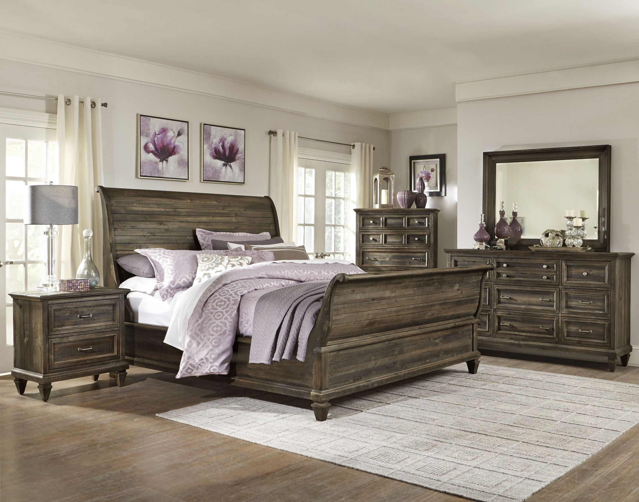 Calistoga Sleigh Bedroom Set From Magnussen Home B2590 52F 52H 52R Colema
