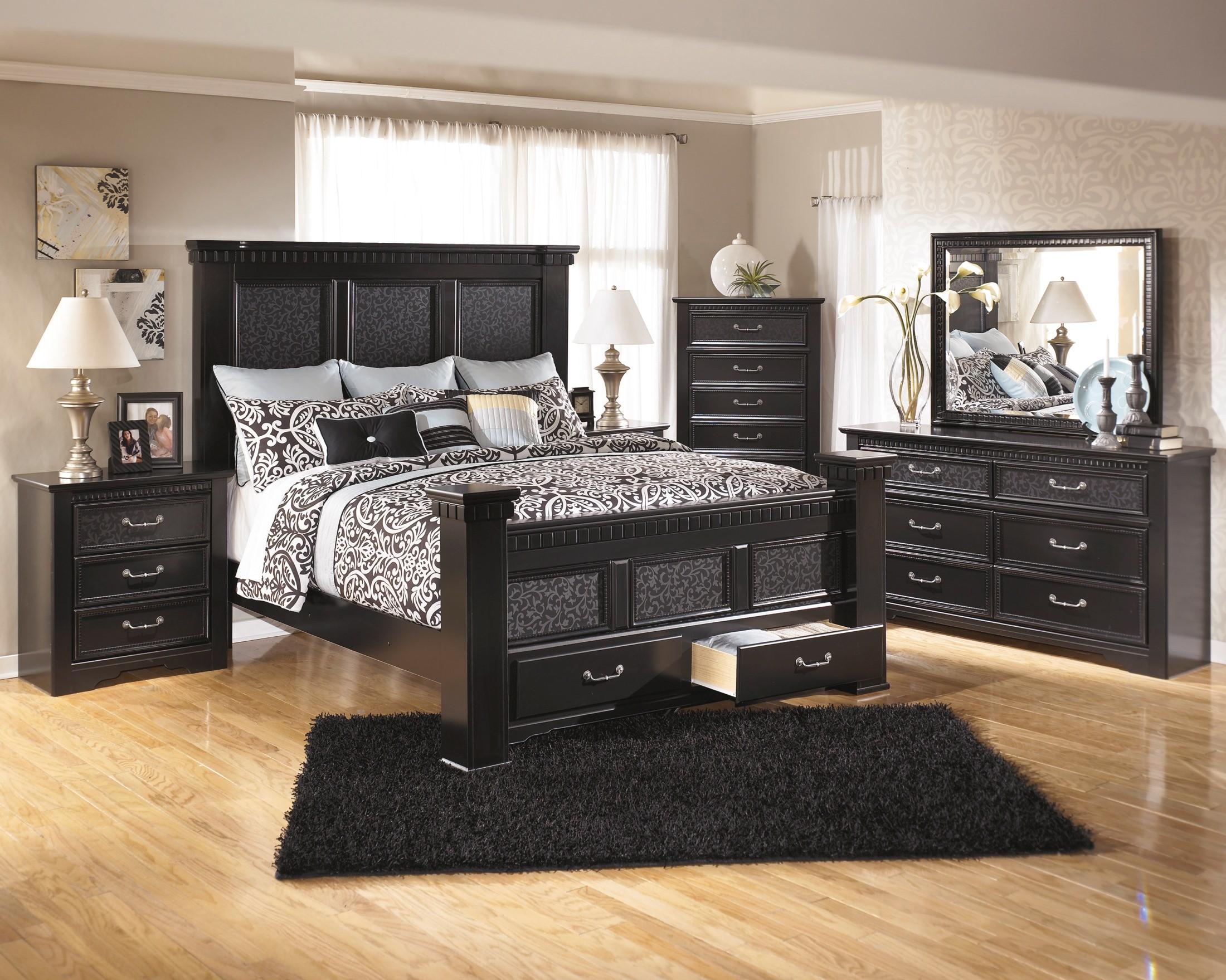 Royal Furniture Living Room Sets Cavallino Mansion Storage Bedroom Set From Ashley B291 Coleman