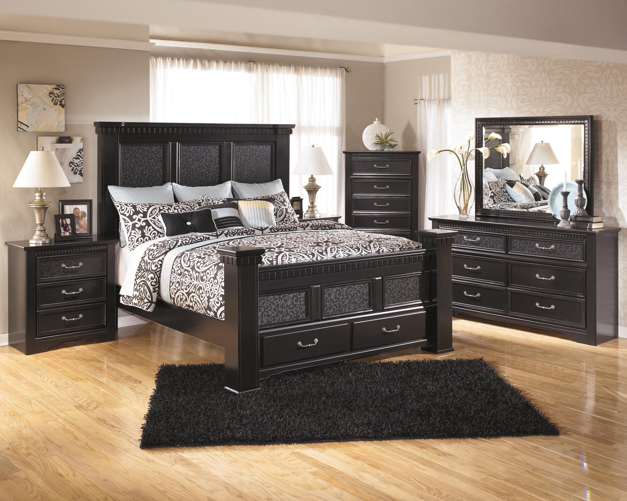 cavallino mansion storage bedroom set from ashley (b291)   coleman