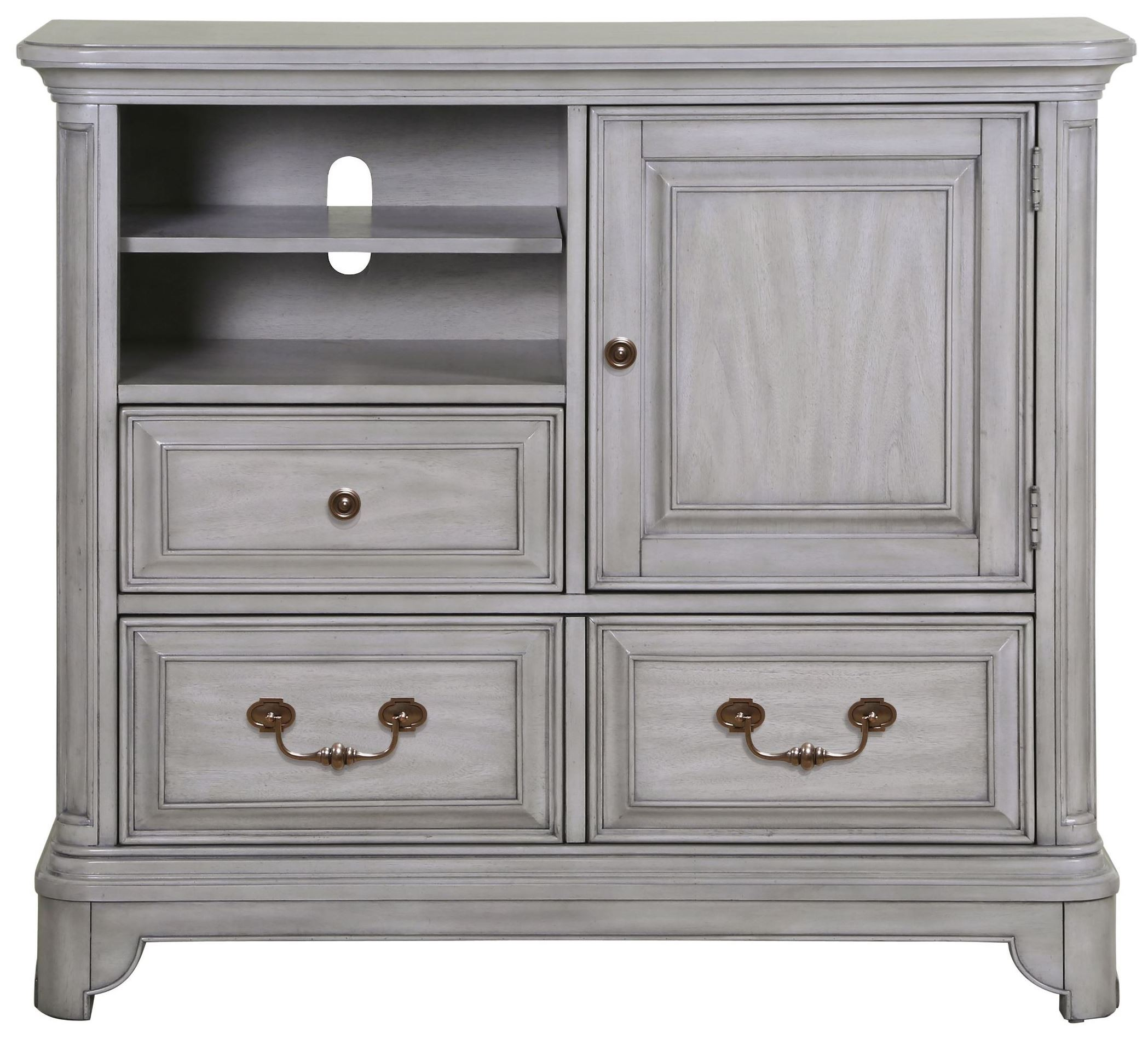 Windsor Lane Weathered Grey Wood Media Chest From Magnussen Home B3341 36 Coleman Furniture