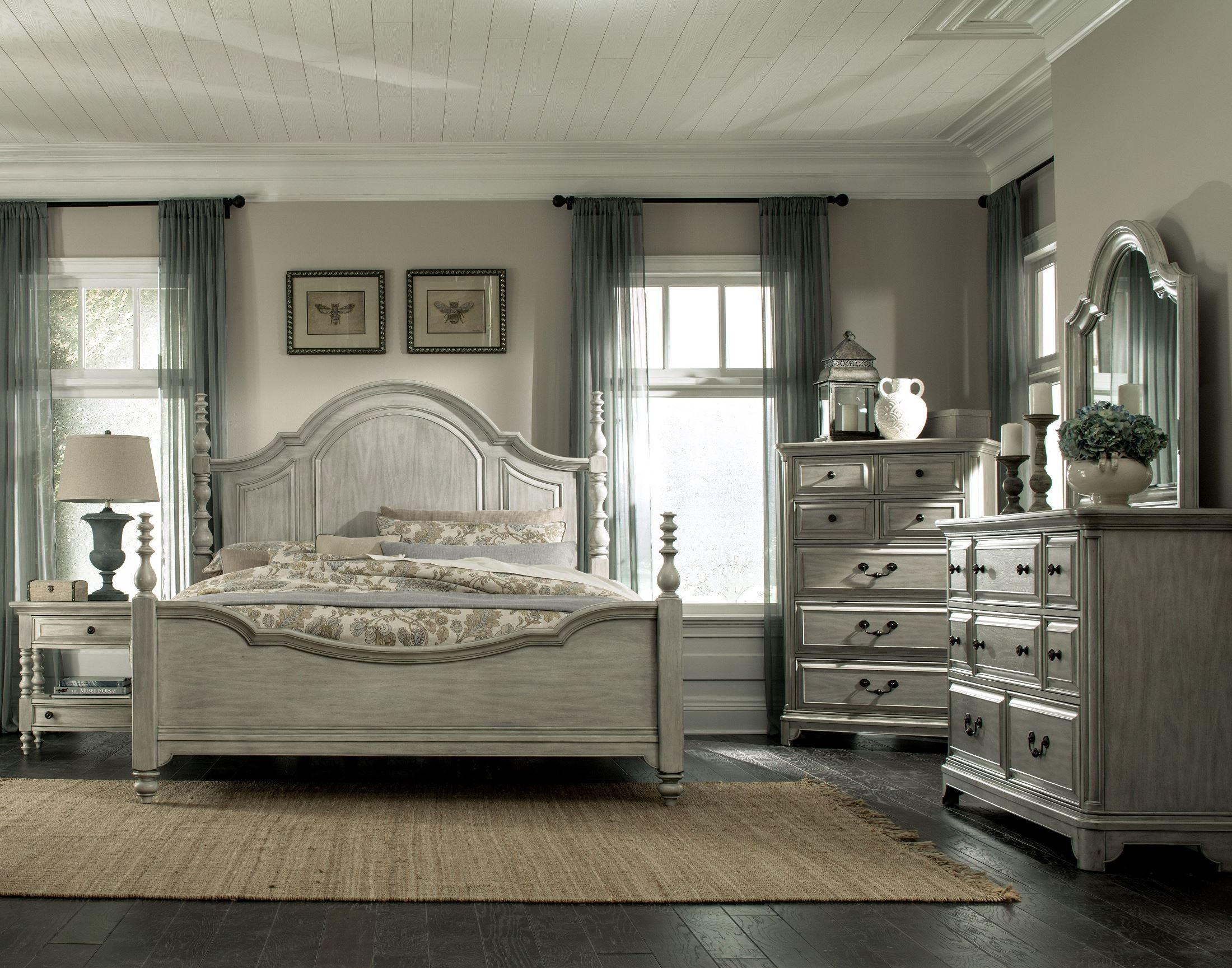 Magnussen Harrison Bedroom Furniture Windsor Lane Weathered Poster Bedroom Set From Magnussen Home