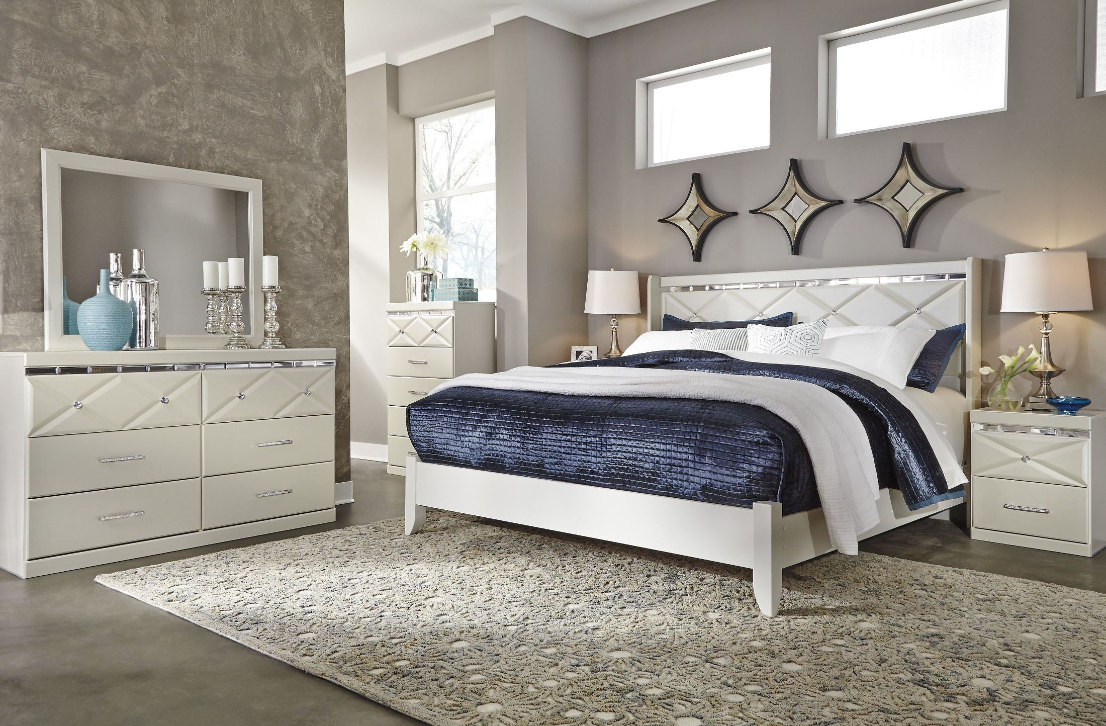 dreamur champagne two drawer night stand from ashley b351