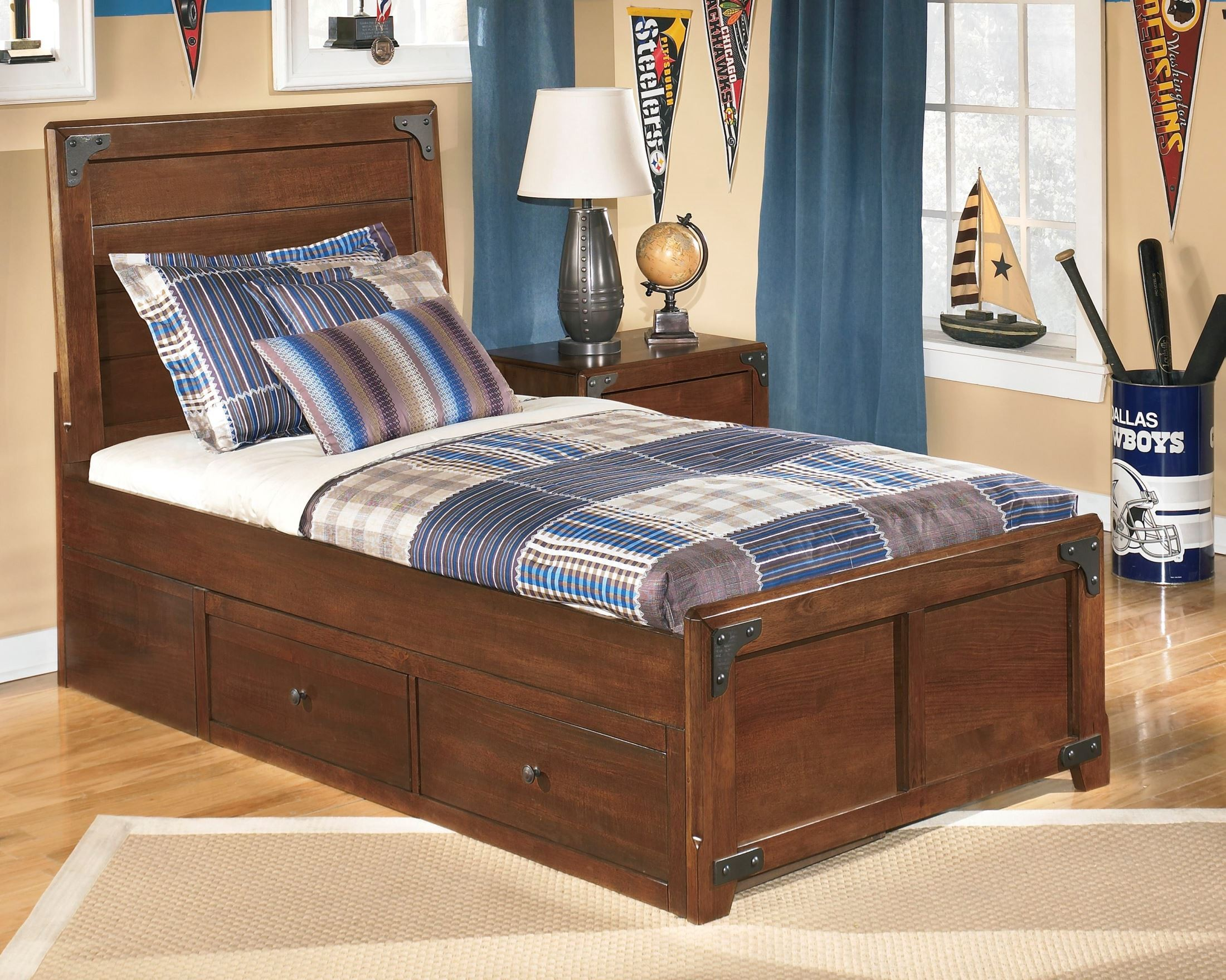 Delburne Youth Panel Storage Bedroom Set From Ashley B362 63 50 70 Colema