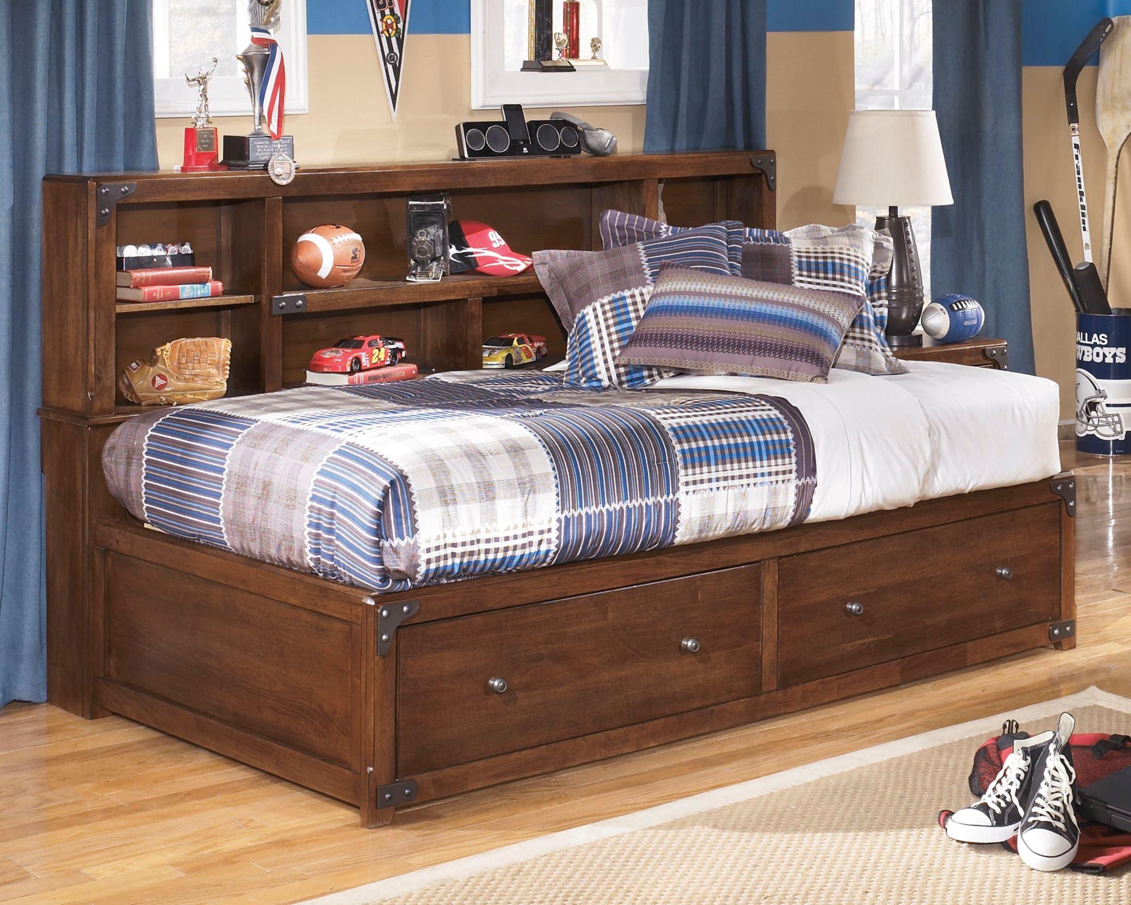 Delburne Twin Bookcase Bed