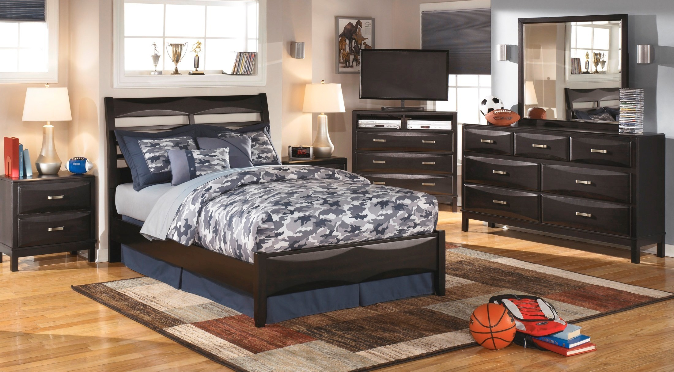 kira youth panel bedroom set from ashley b473 84 86 87