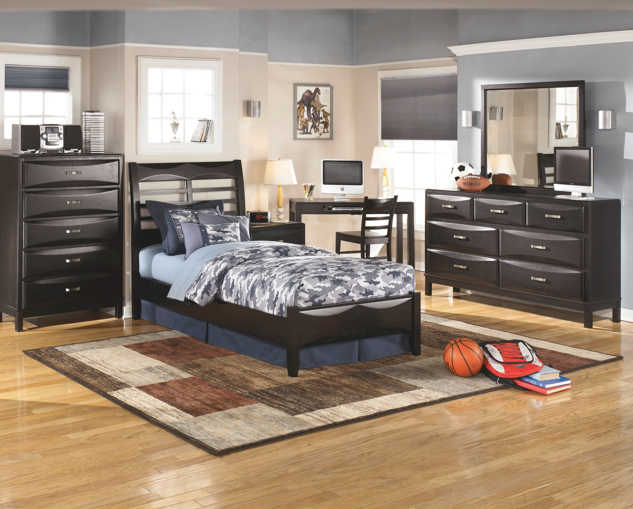 kira youth panel bedroom set from ashley b473 84 86 87 coleman