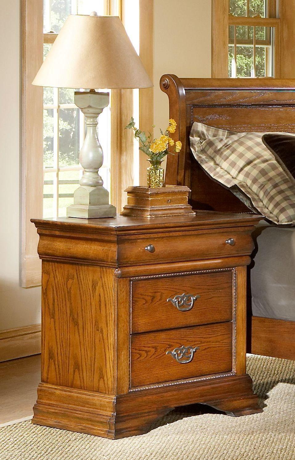 Shenandoah American Oak Panel Bedroom Set B4850 58H 58F 58R Largo Furniture