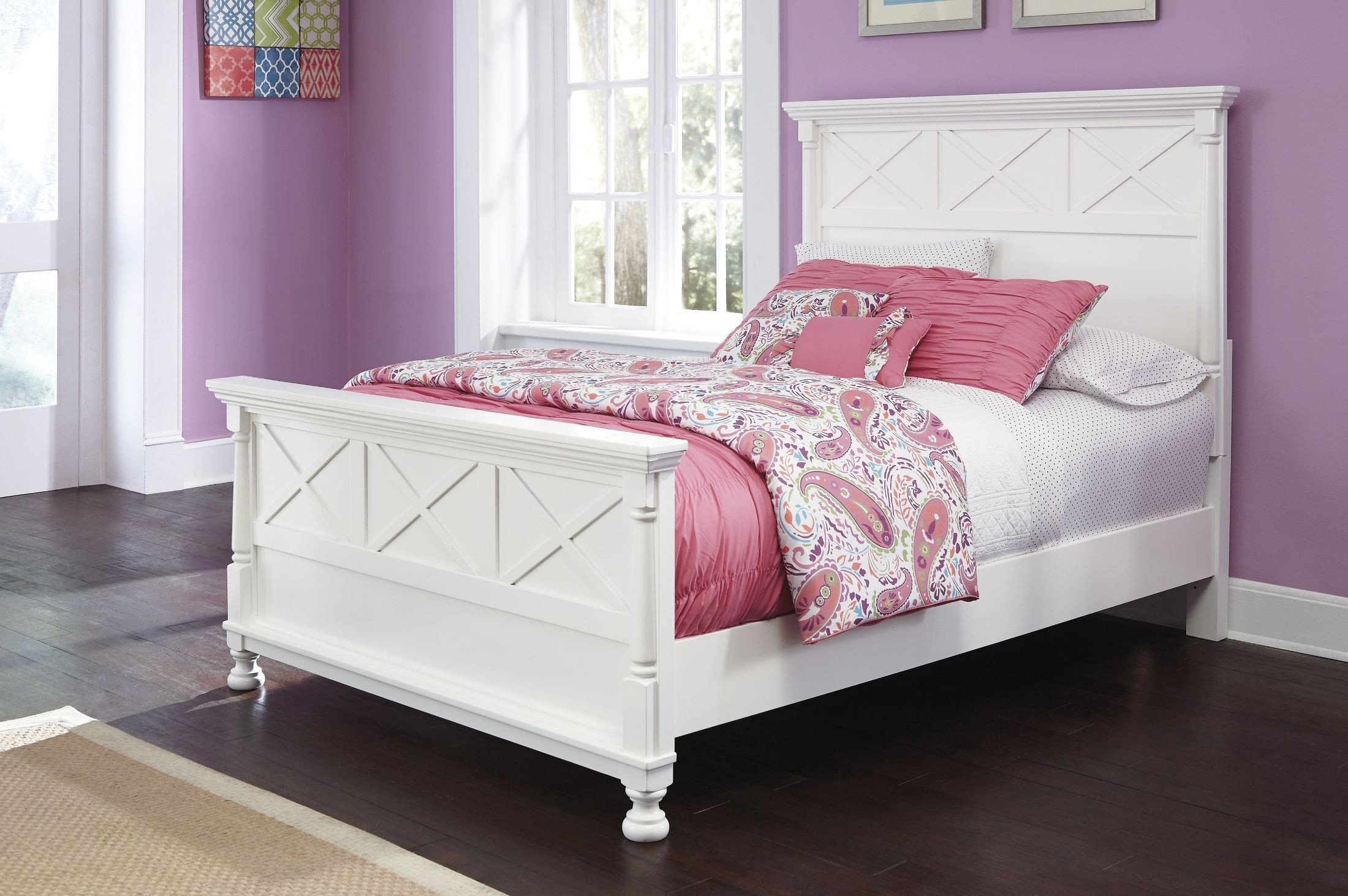 Kaslyn queen panel bed from ashley b502 57 54 96 for Panel bed mattress