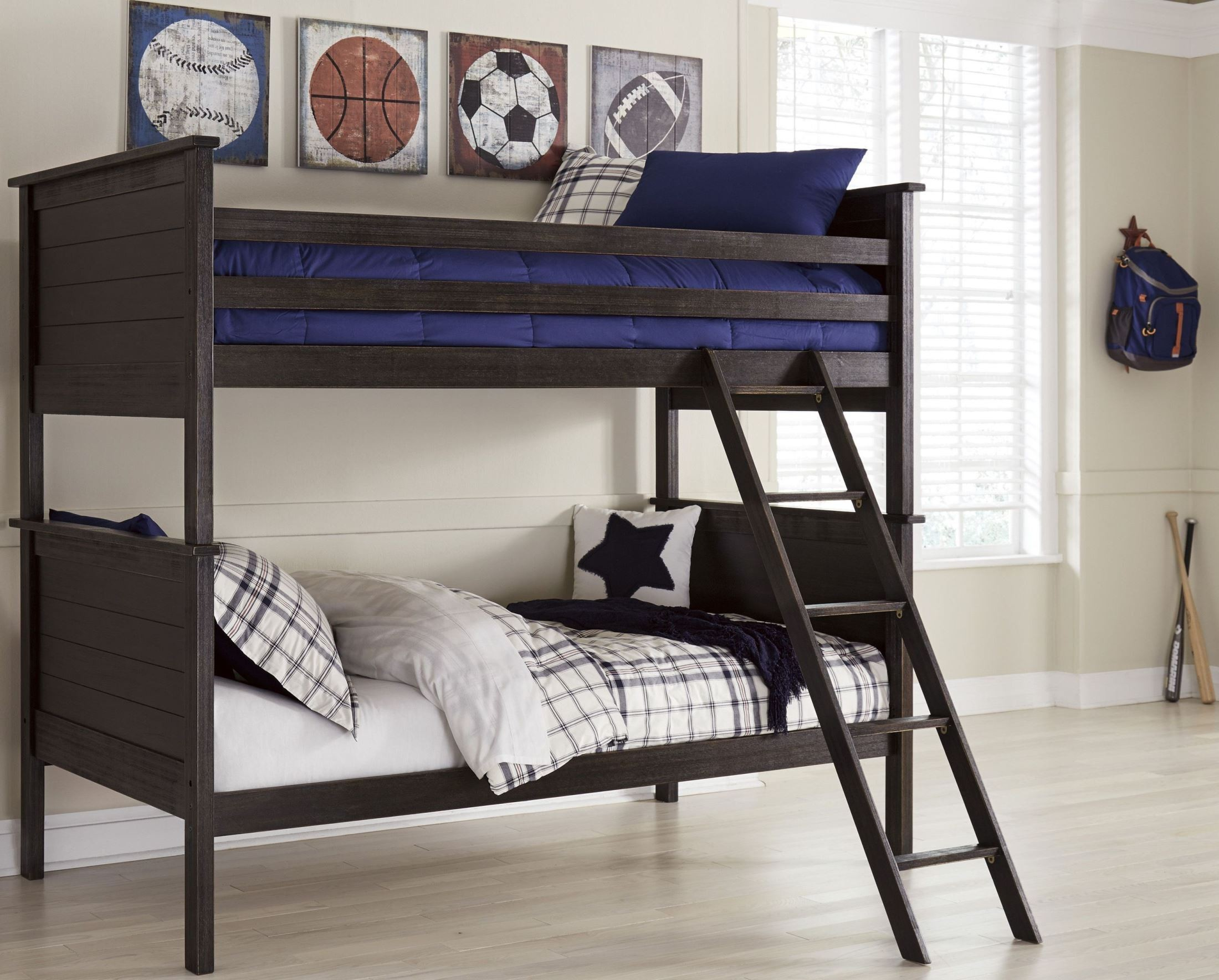 jaysom black bunk bedroom set b521 59p 59r 59s ashley