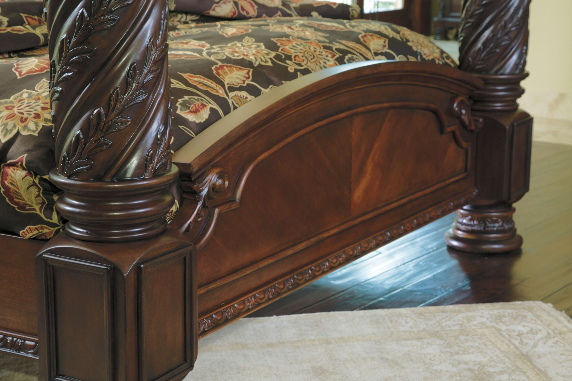 North Shore King Poster Bed With Canopy From Ashley Coleman Furniture