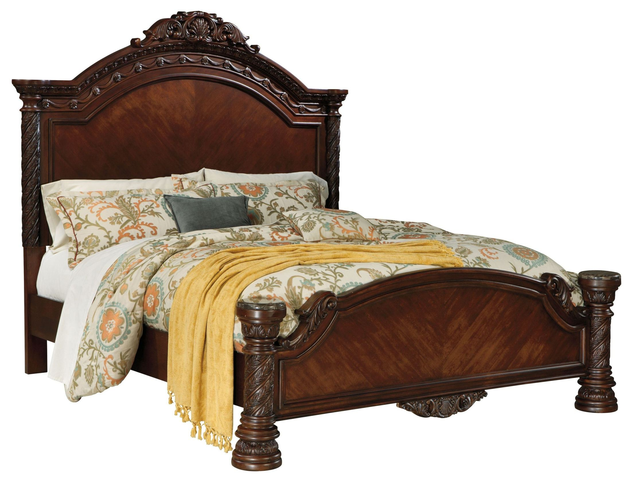 North shore cal king panel bed from ashley b553 158 256 194 coleman furniture for North shore california king canopy bedroom set