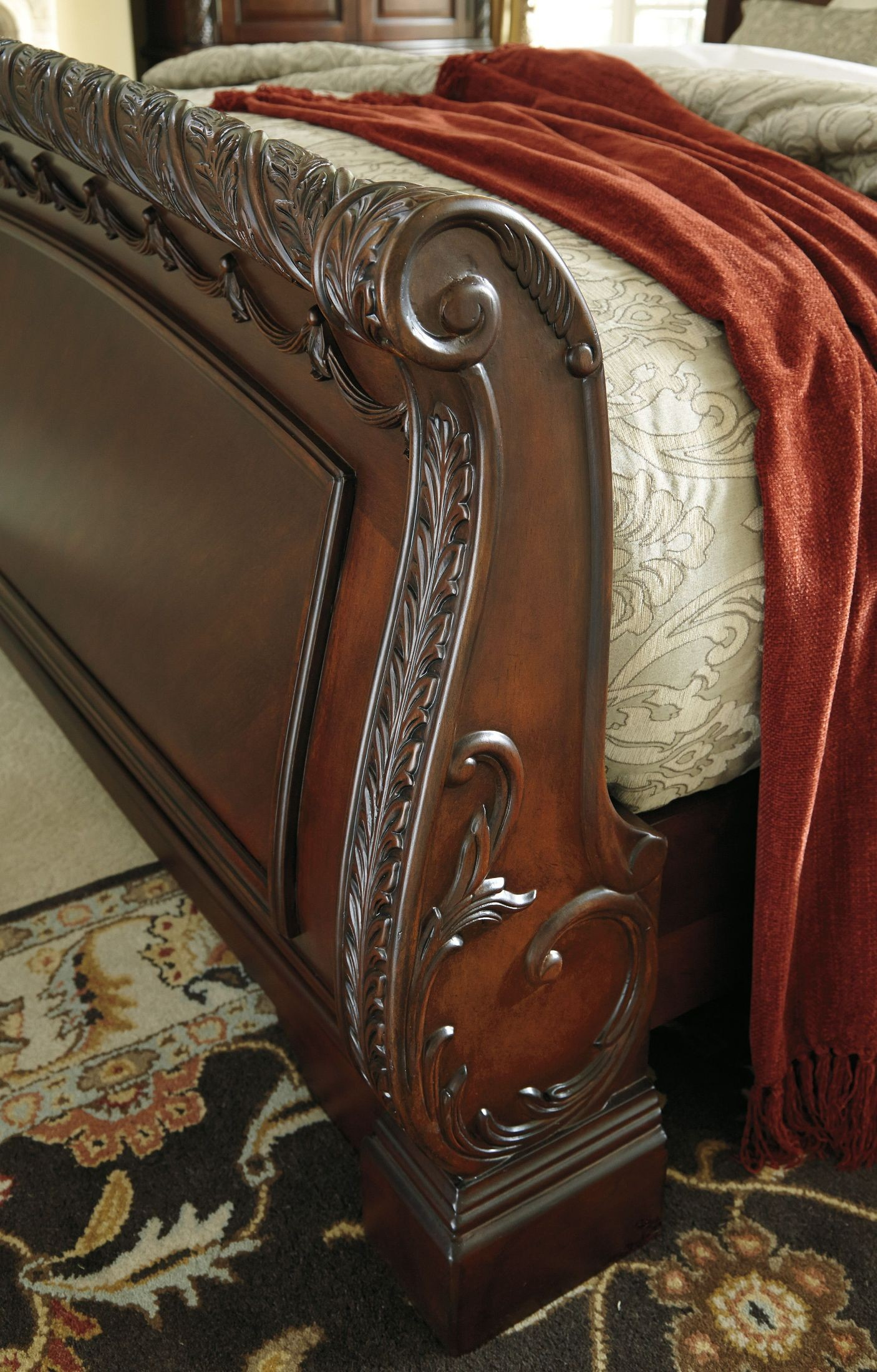 North Shore Queen Sleigh Bed From Ashley B553 77 74 75 Coleman Furniture