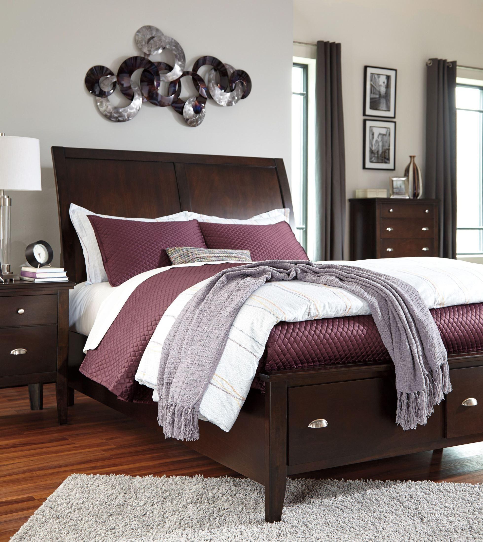 Evanburg Cal King Sleigh Storage Bed B598 58 56s 94s Ashley