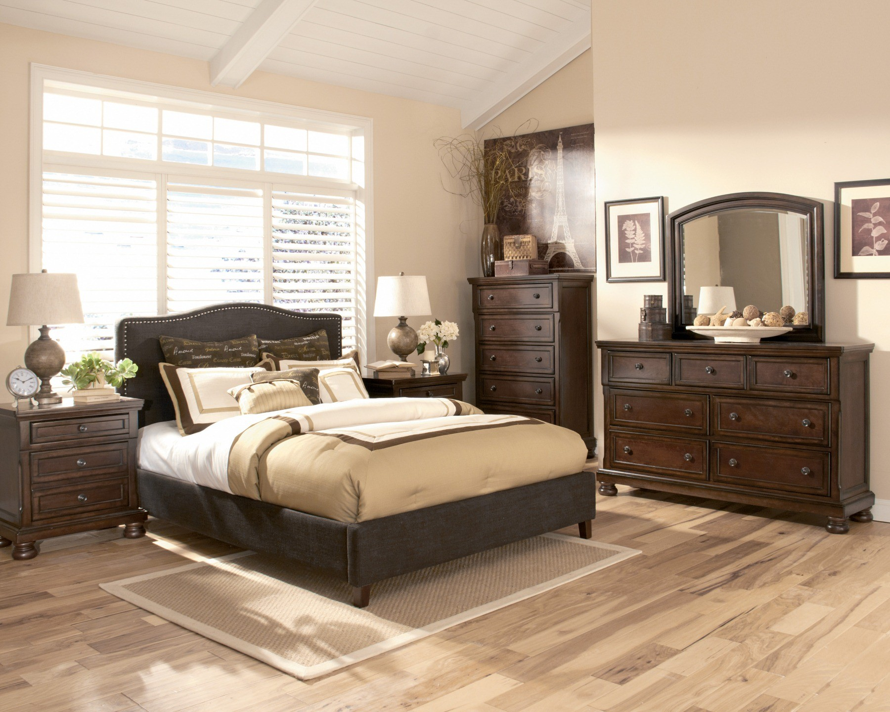 Portland Queen Upholstered Bed From Ashley B600 357 354 Coleman Furniture