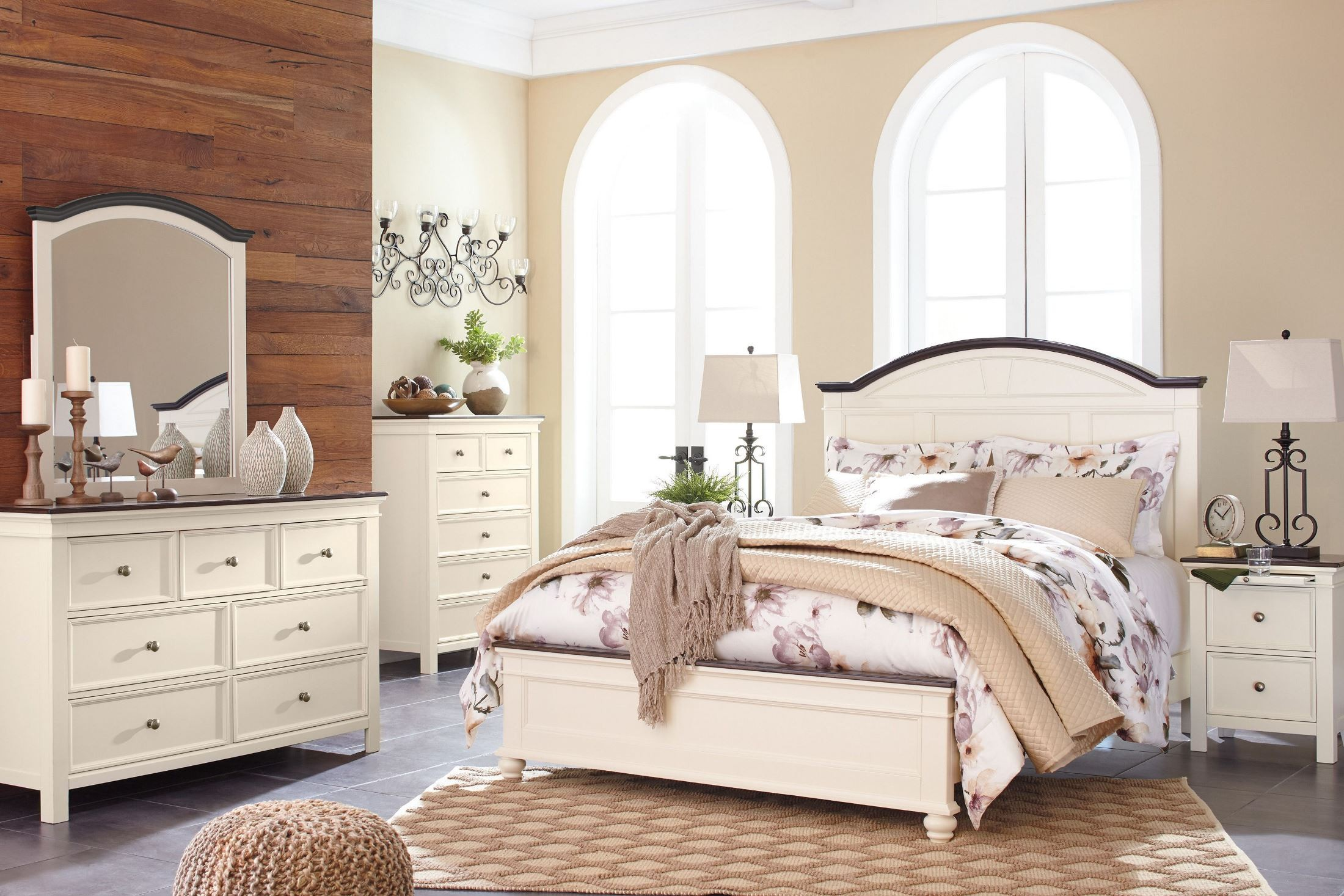 Woodanville White And Brown Panel Bedroom Set, B623-57-54-96, Ashley