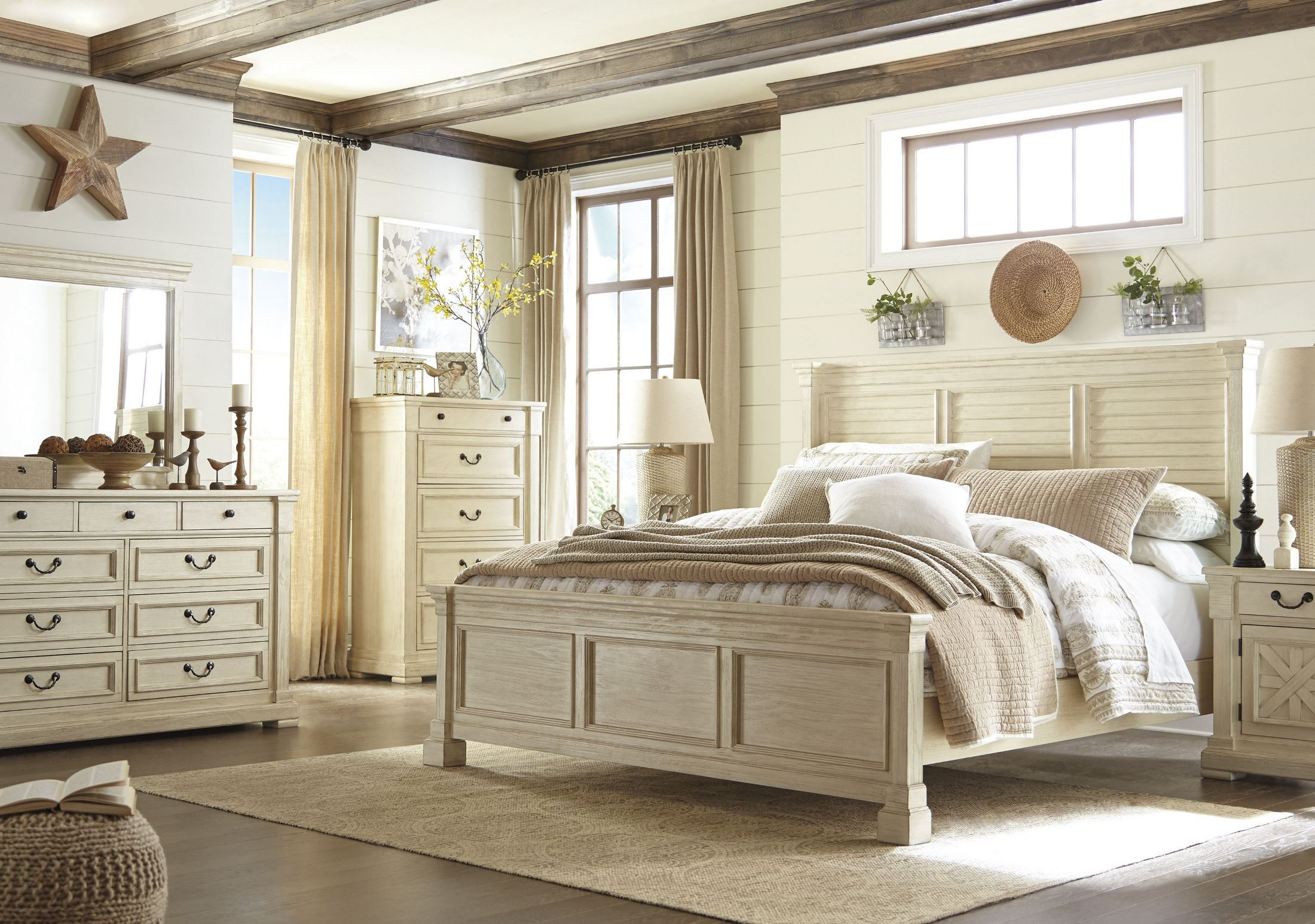 Bolanburg White Panel Bedroom Set, B647-54-57-96, Ashley