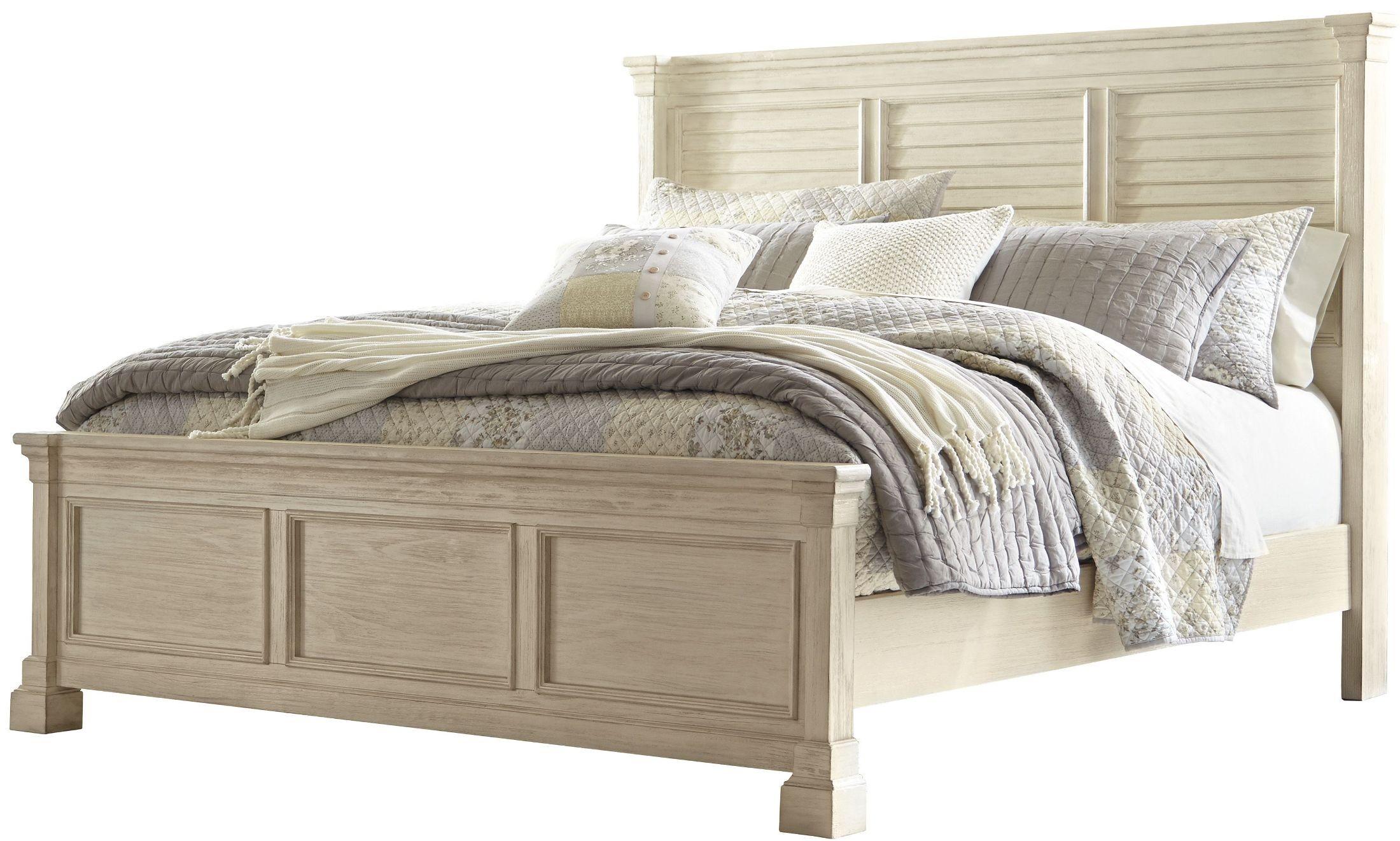 bolanburg white louvered panel bedroom set b647 54 77 96 ashley. Black Bedroom Furniture Sets. Home Design Ideas