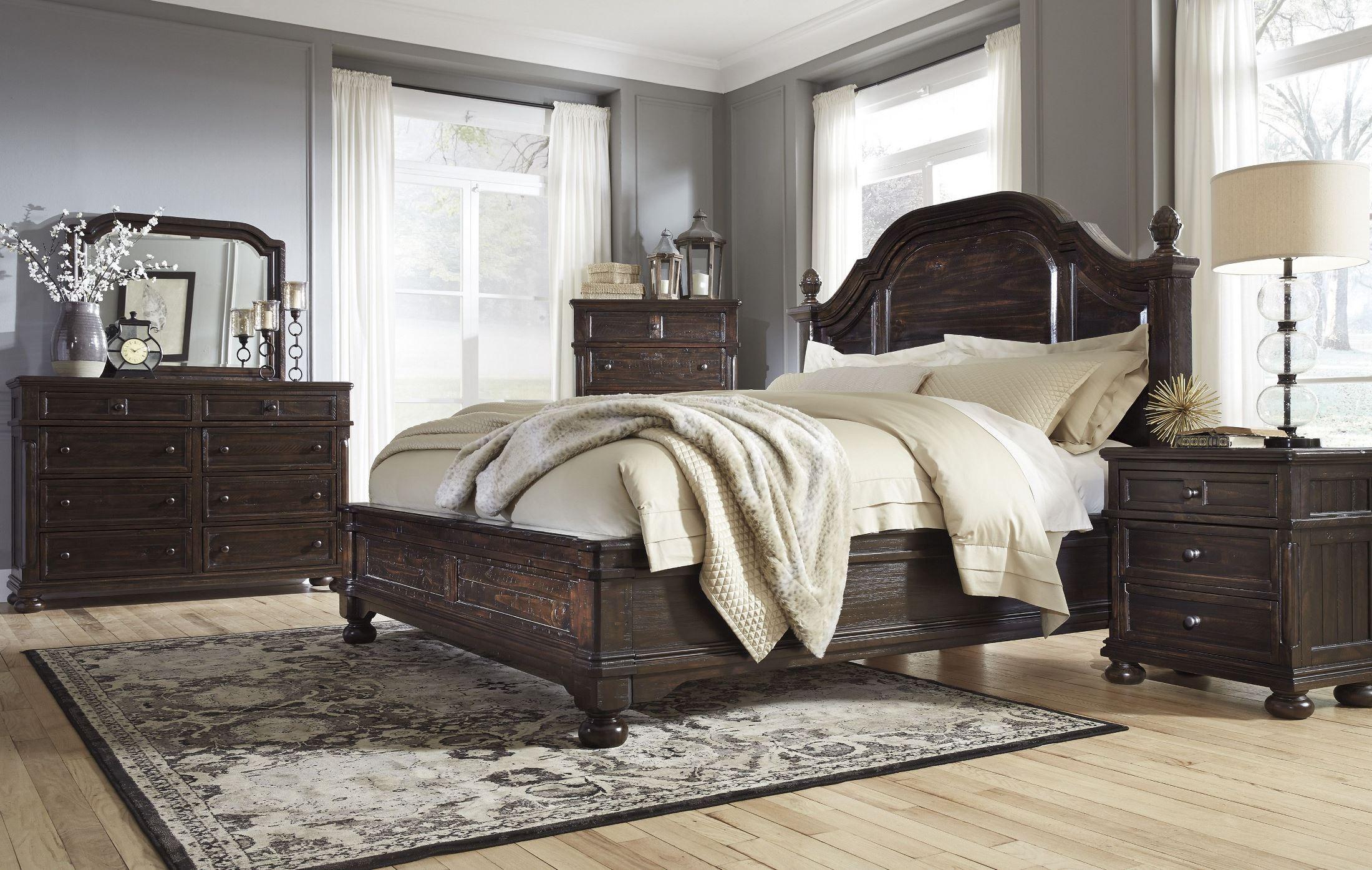 gerlane dark brown platform bedroom set b657 54 57 ashley. Black Bedroom Furniture Sets. Home Design Ideas
