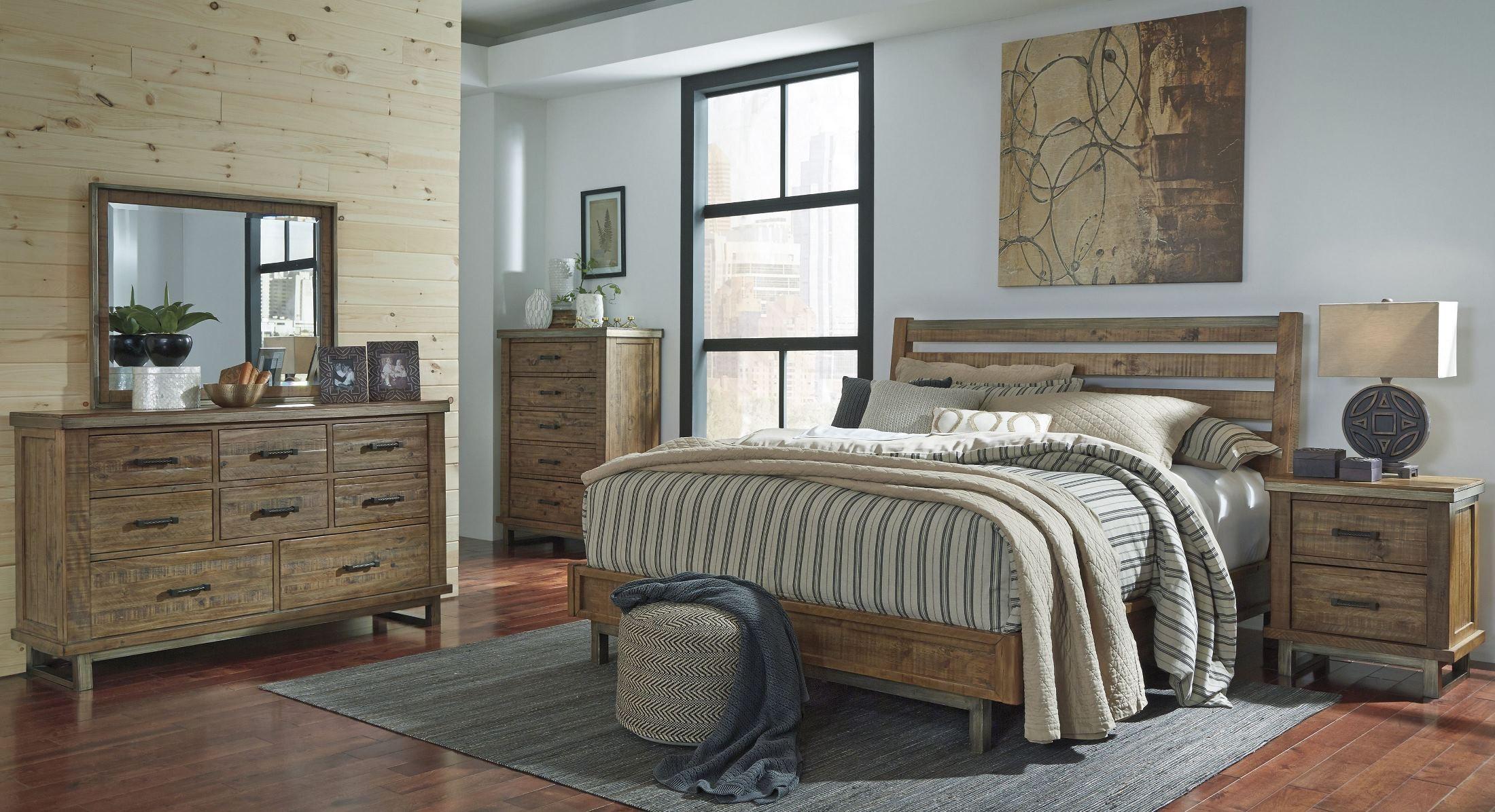 dondie warm brown platform bedroom set from ashley b663 57 54 coleman furniture