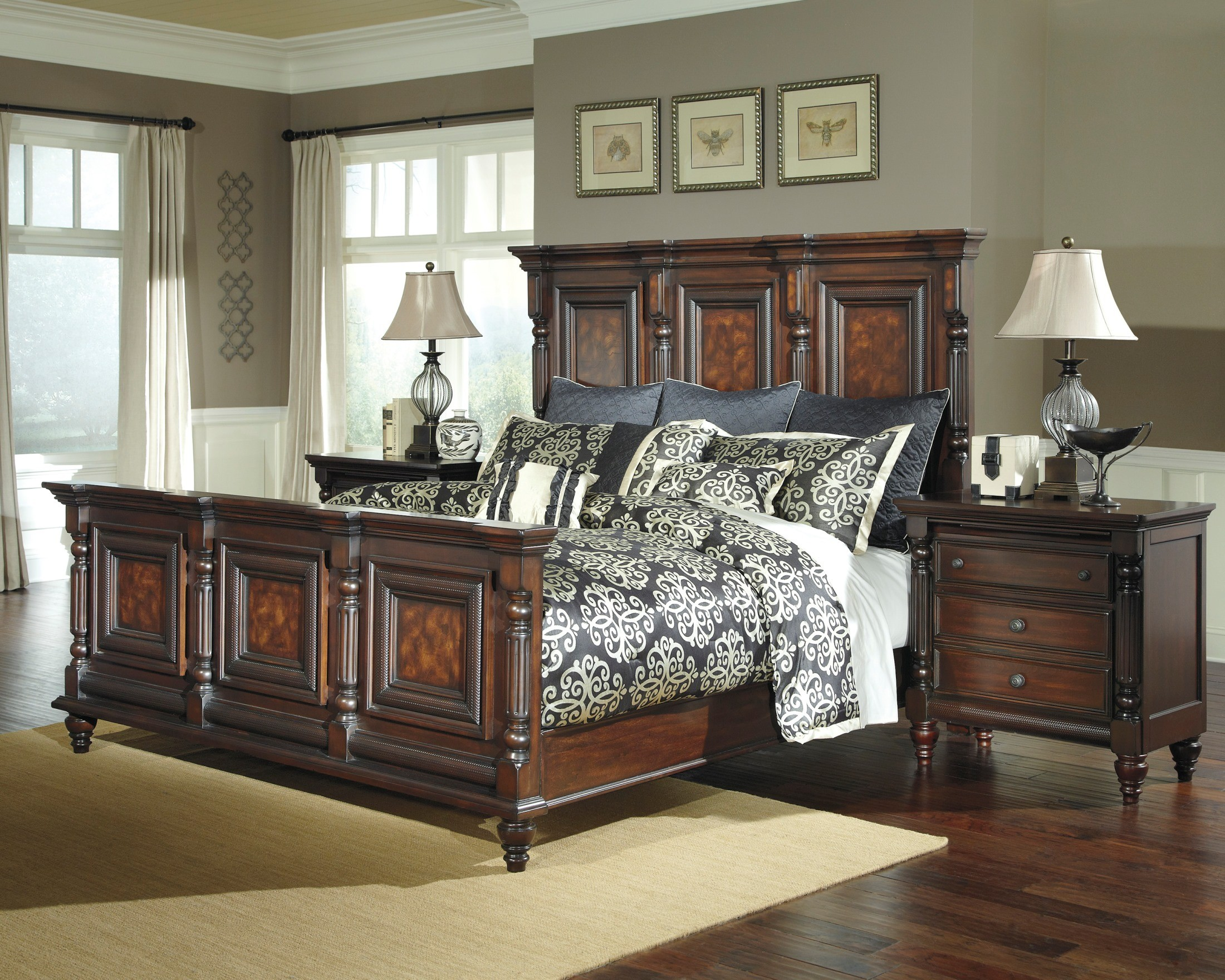 Key town mansion bedroom set b668 157 154 96 ashley furniture - Key town bedroom set ...