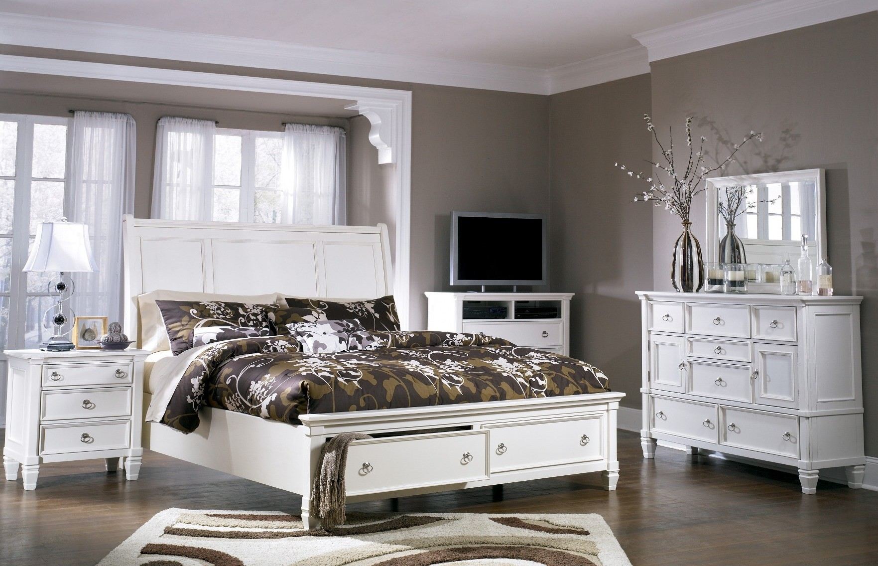 Prentice Storage Sleigh Bedroom Set From Ashley B672