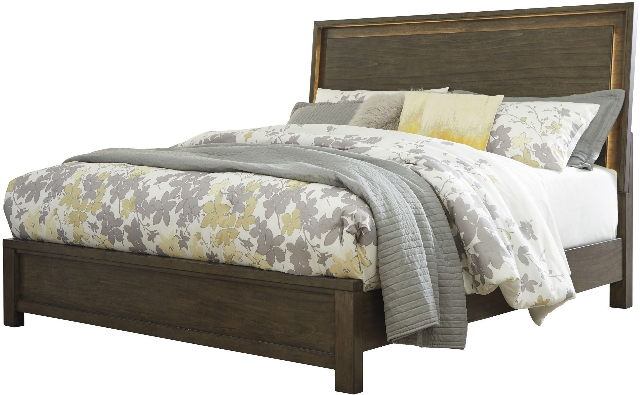 Camilone dark gray queen panel bed b675 54 57 96 ashley for Panel beds for sale