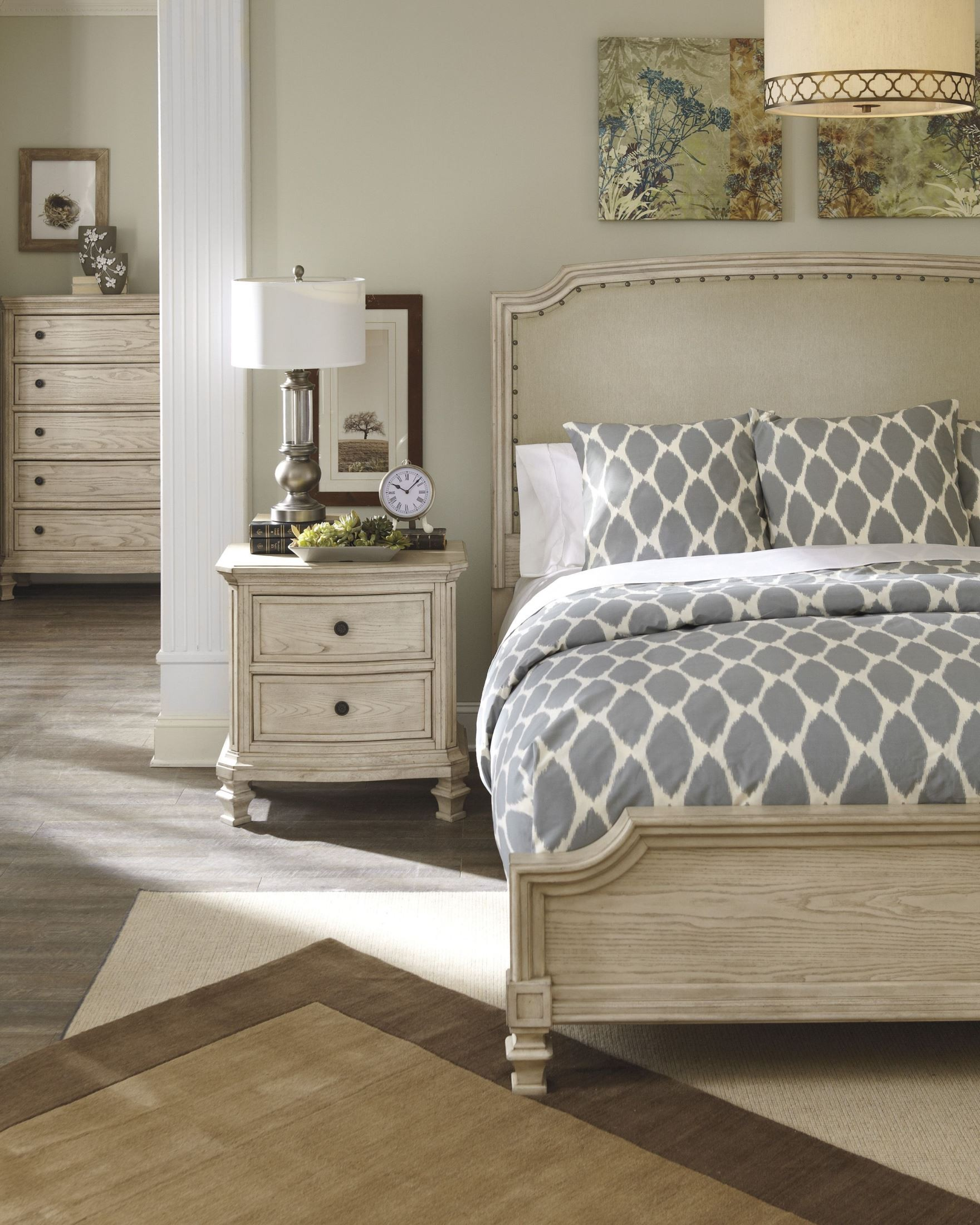 Demarlos Queen Upholstered Panel Bed From Ashley B693 77 74 96 Coleman Furniture