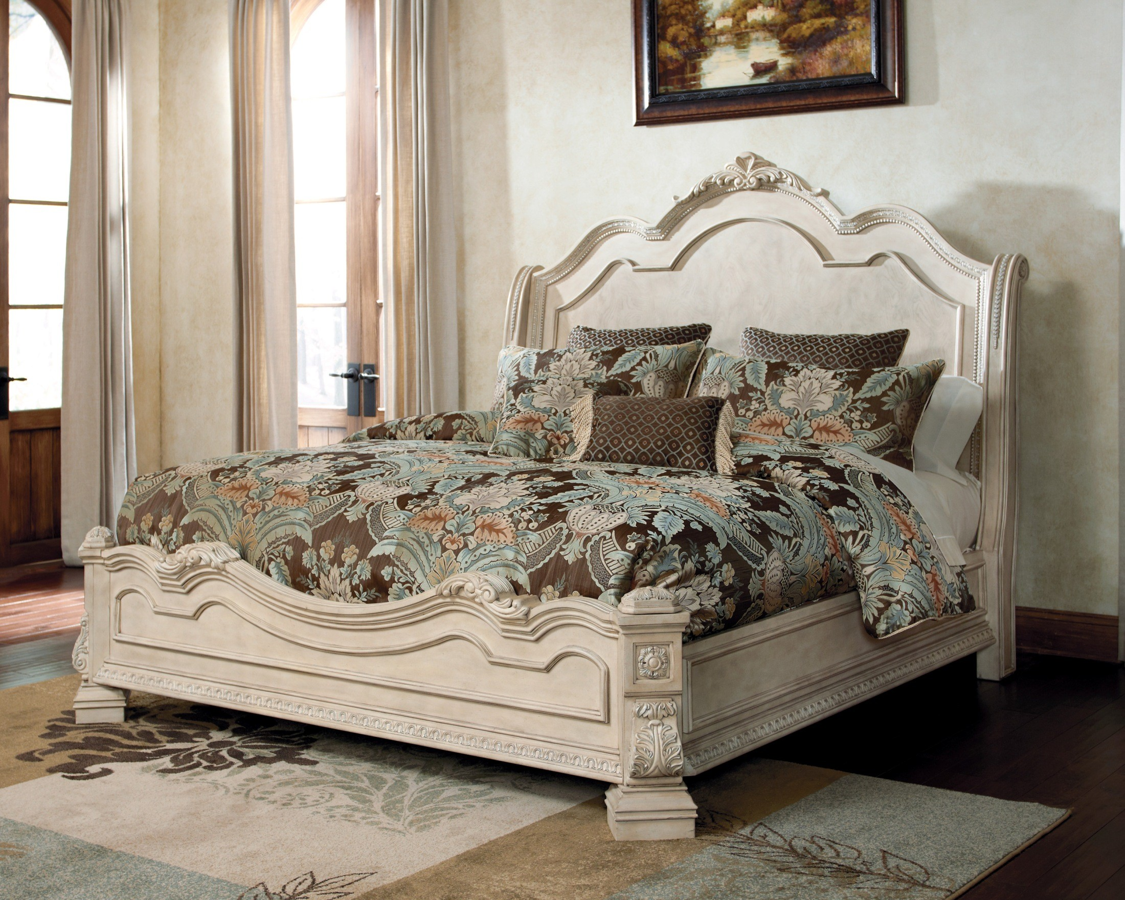 ortanique sleigh bed b707 57 54 96 millennium design by