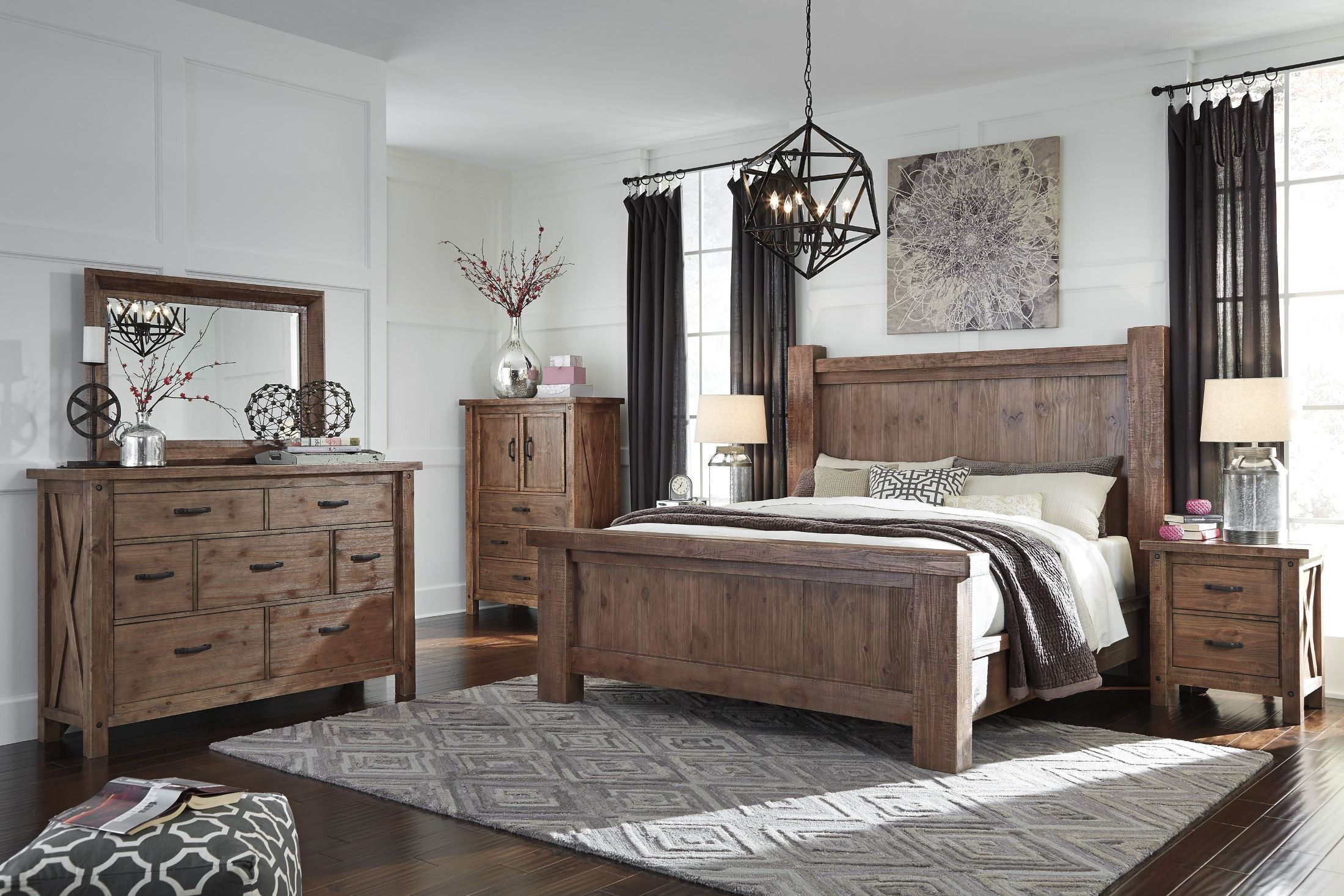 tamilo grayish brown cal king poster bed from ashley b714 66 68 95 coleman furniture. Black Bedroom Furniture Sets. Home Design Ideas