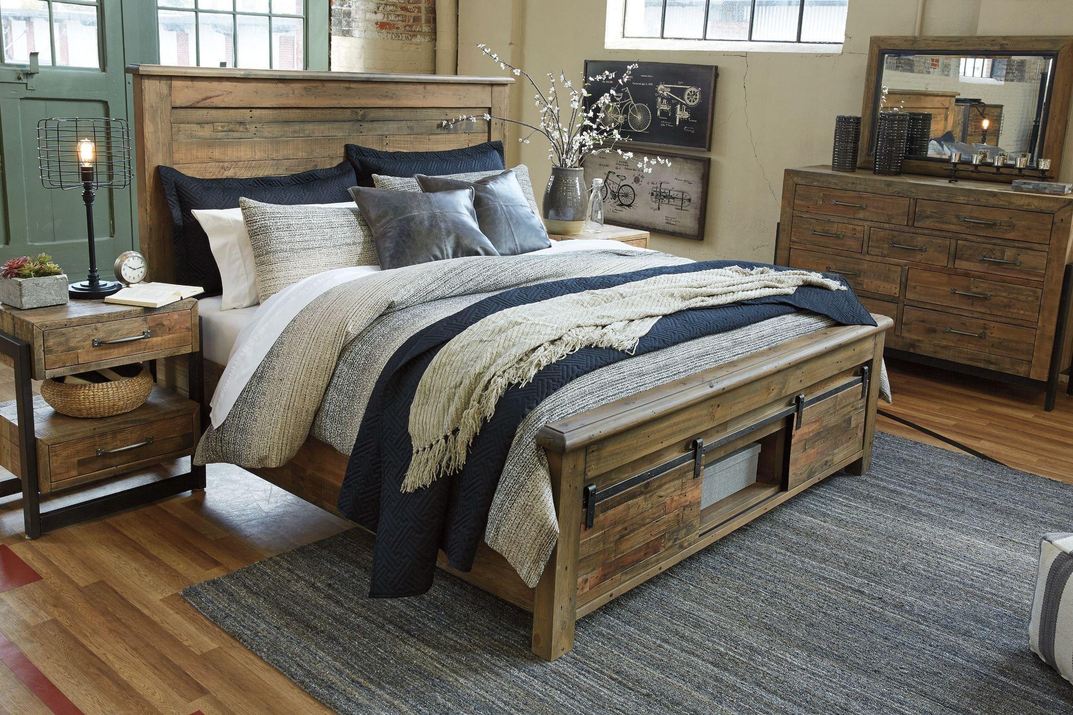 Sommerford Brown Storage Bed