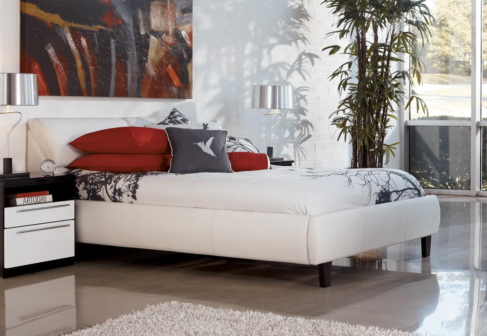 Jansey White Upholstered Storage Bedroom Set, B852, Ashley ...