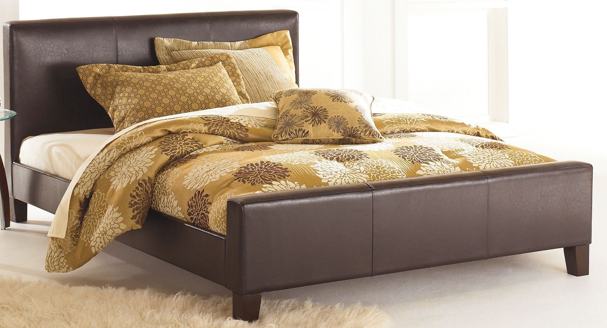 Euro Sable King Ornamental Platform Bed, B91L76, Fashion Bed Group