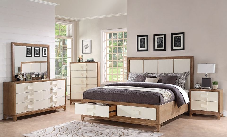 enchantment weathered driftwood panel storage bedroom set