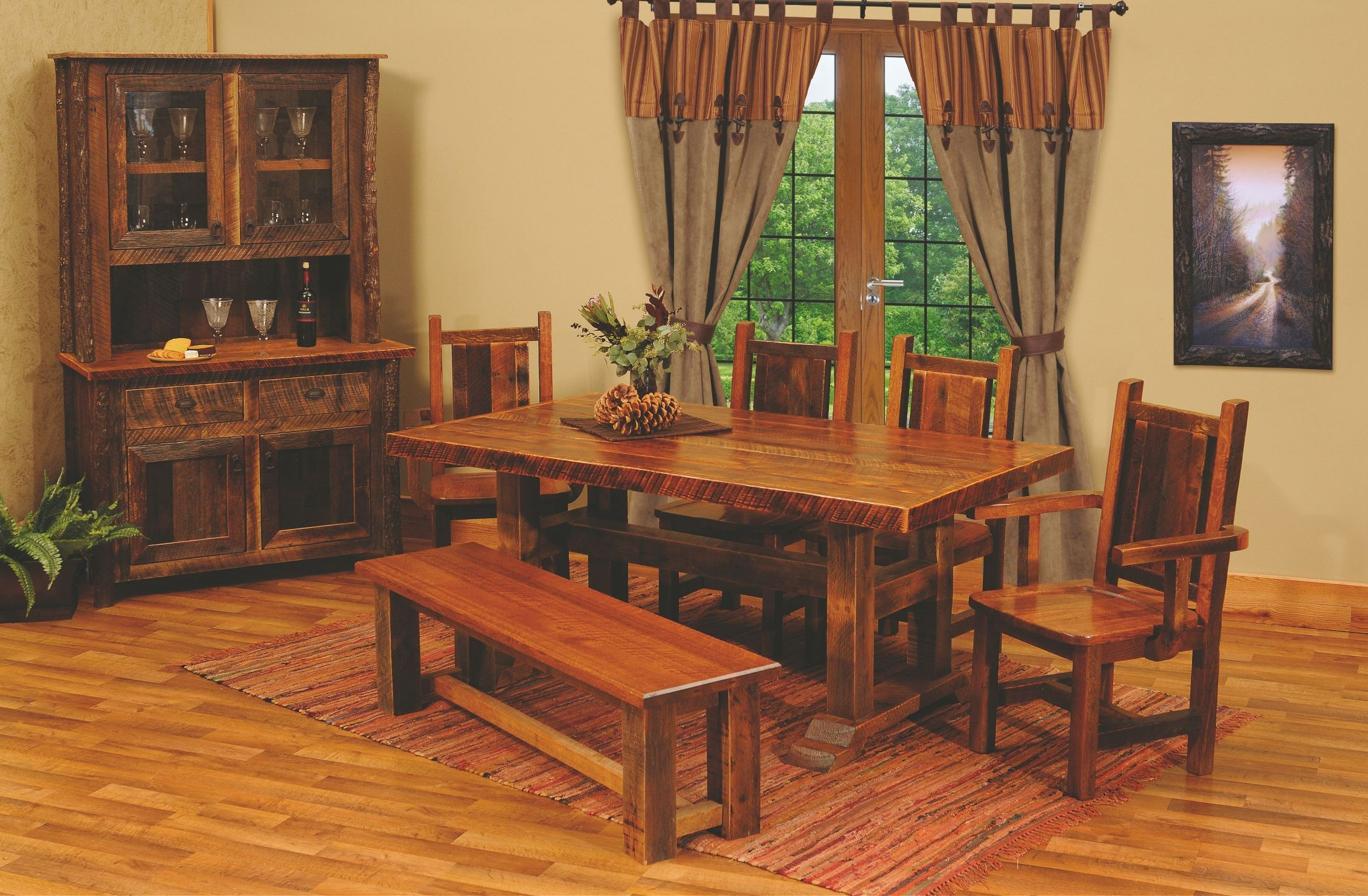 Barnwood timbers 60 traditional oak top rectangular dining table from fireside lodge b15112 - Barnwood dining room table ...